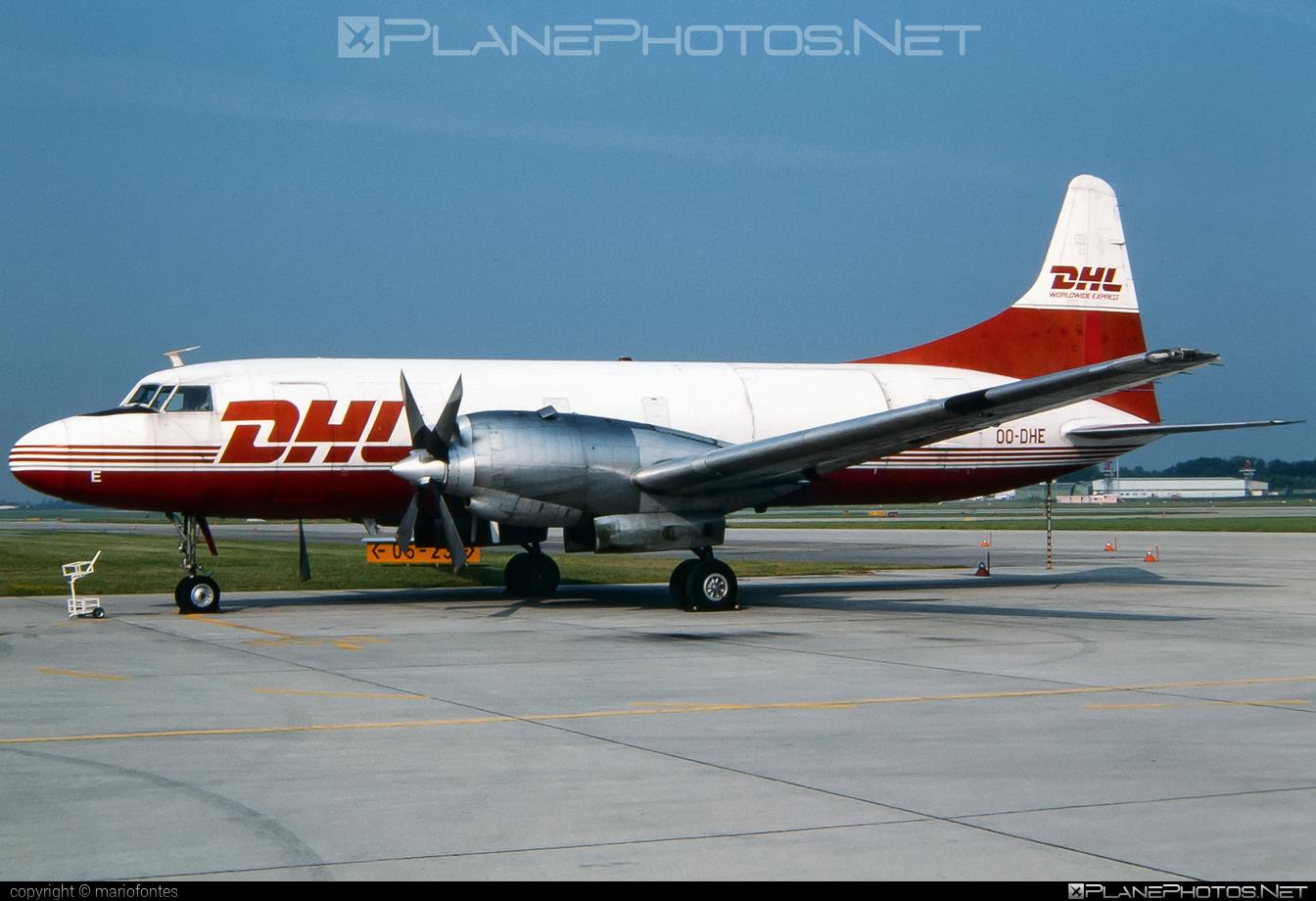 Convair CV-580 - OO-DHE operated by DHL (European Air Transport) #convair