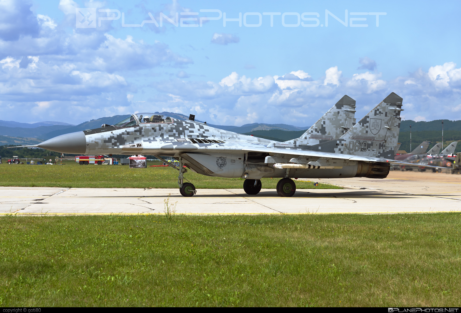 Mikoyan-Gurevich MiG-29AS - 0619 operated by Vzdušné sily OS SR (Slovak Air Force) #mig #mig29 #mig29as #mikoyangurevich #siaf2019 #slovakairforce #vzdusnesilyossr