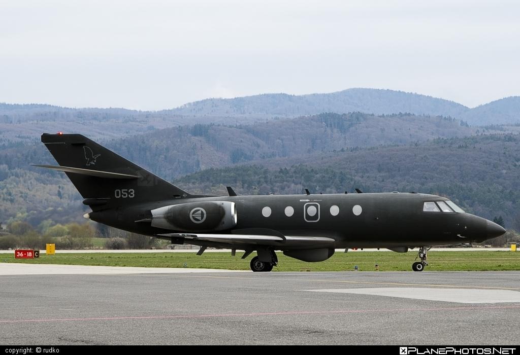 Dassault Falcon 20ECM - 053 operated by Luftforsvaret (Royal Norwegian Air Force) #dassault #rnoaf #royalnorwegianairforce