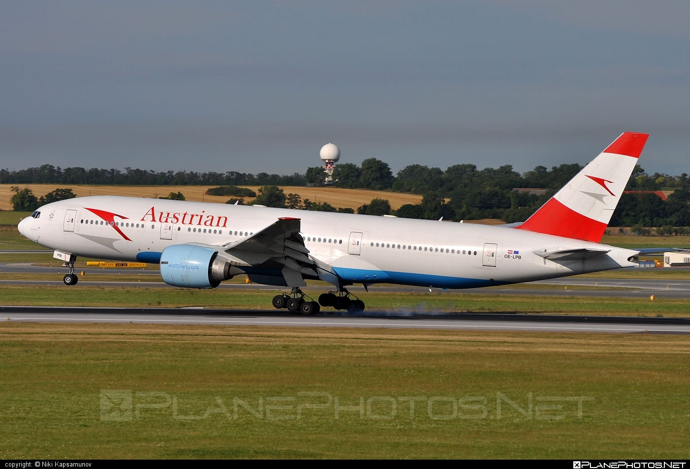 Boeing 777-200ER - OE-LPB operated by Austrian Airlines #b777 #b777er #boeing #boeing777 #tripleseven