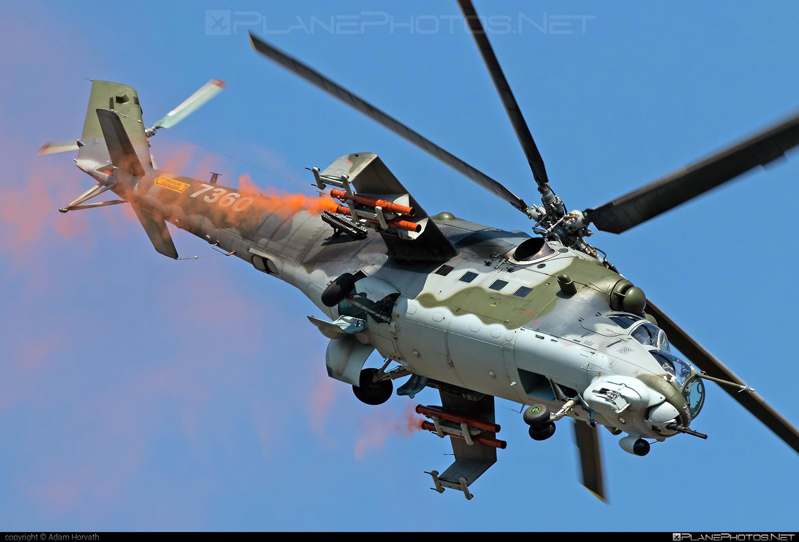 Mil Mi-35 - 7360 operated by Vzdušné síly AČR (Czech Air Force) #czechairforce #mi35 #mil #milhelicopters #siaf2019 #vzdusnesilyacr