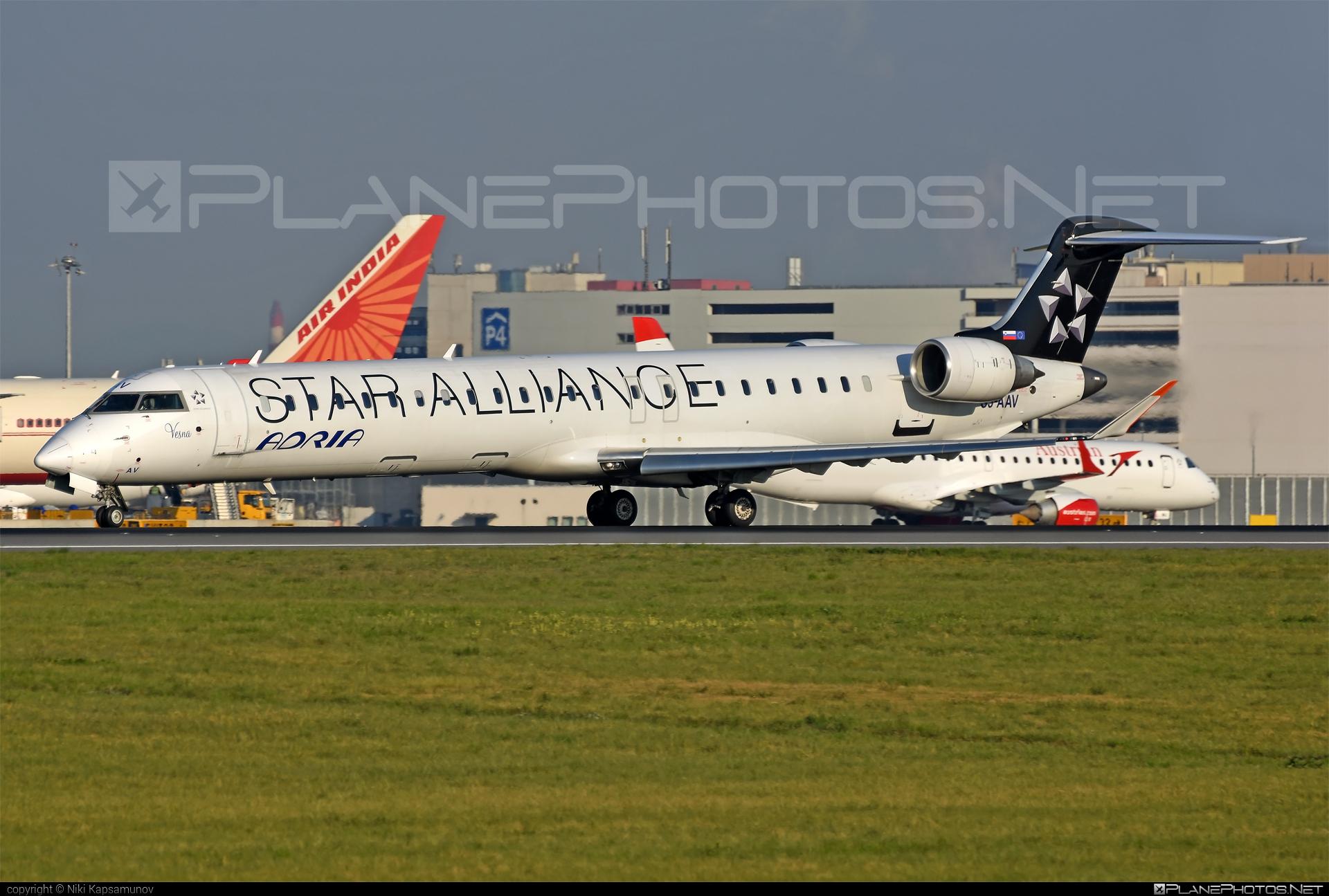 Bombardier CRJ900LR - S5-AAV operated by Adria Airways #bombardier #crj900 #crj900lr #staralliance