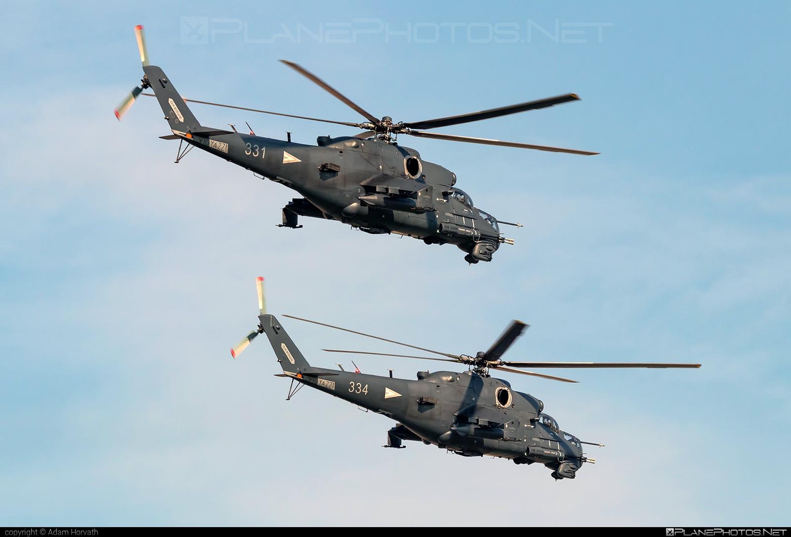 Mil Mi-24P - 334 operated by Magyar Légierő (Hungarian Air Force) #hungarianairforce #magyarlegiero #mi24 #mi24p #mil #mil24 #mil24p #milhelicopters