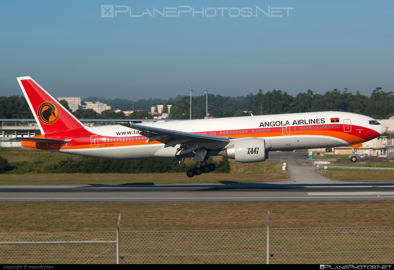Boeing 777-200ER - D2-TEE operated by TAAG Linhas Aéreas de Angola #b777 #b777er #boeing #boeing777 #tripleseven