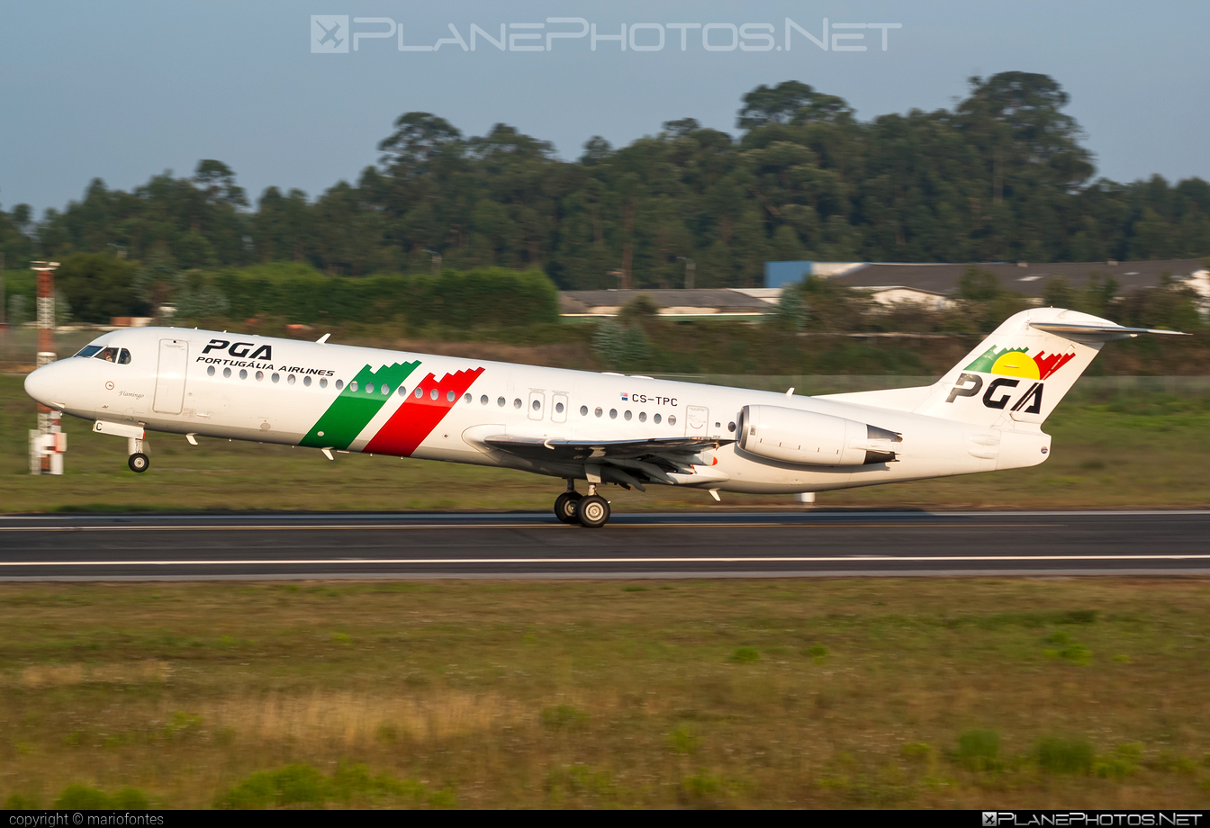 Fokker 100 - CS-TPC operated by Portugália Airlines #fokker #portugaliaairlines