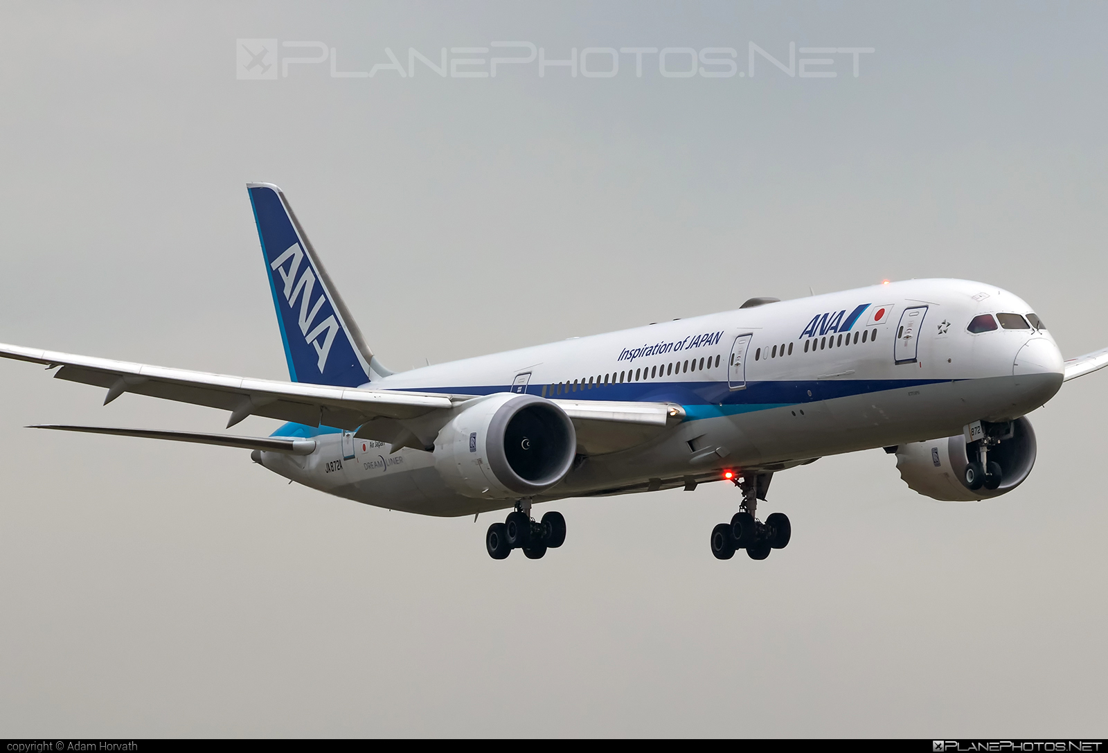 Boeing 787-9 Dreamliner - JA872A operated by All Nippon Airways (ANA) #b787 #boeing #boeing787 #dreamliner