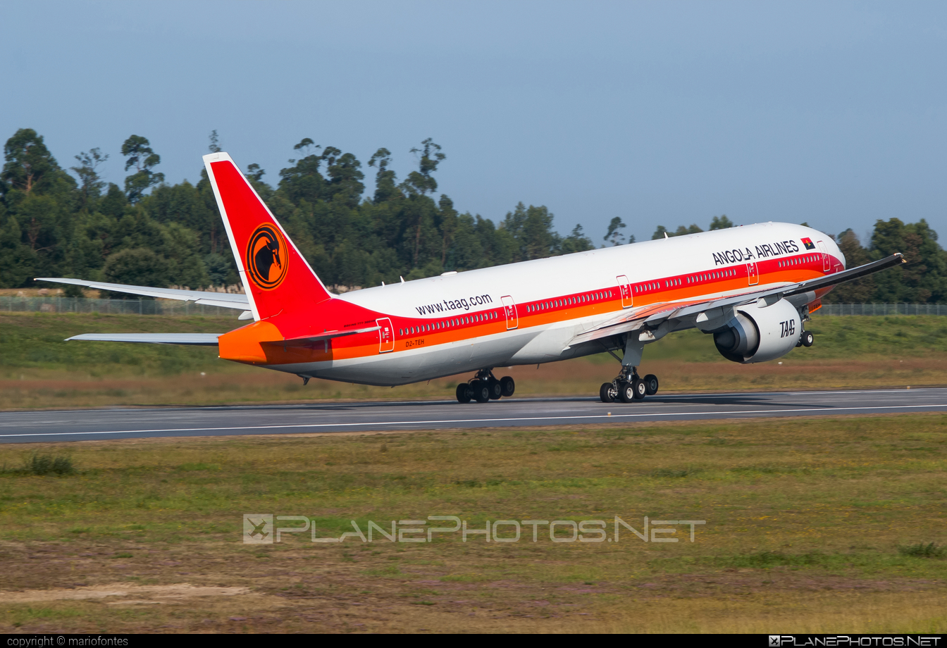 Boeing 777-300ER - D2-TEH operated by TAAG Linhas Aéreas de Angola #b777 #b777er #boeing #boeing777 #tripleseven
