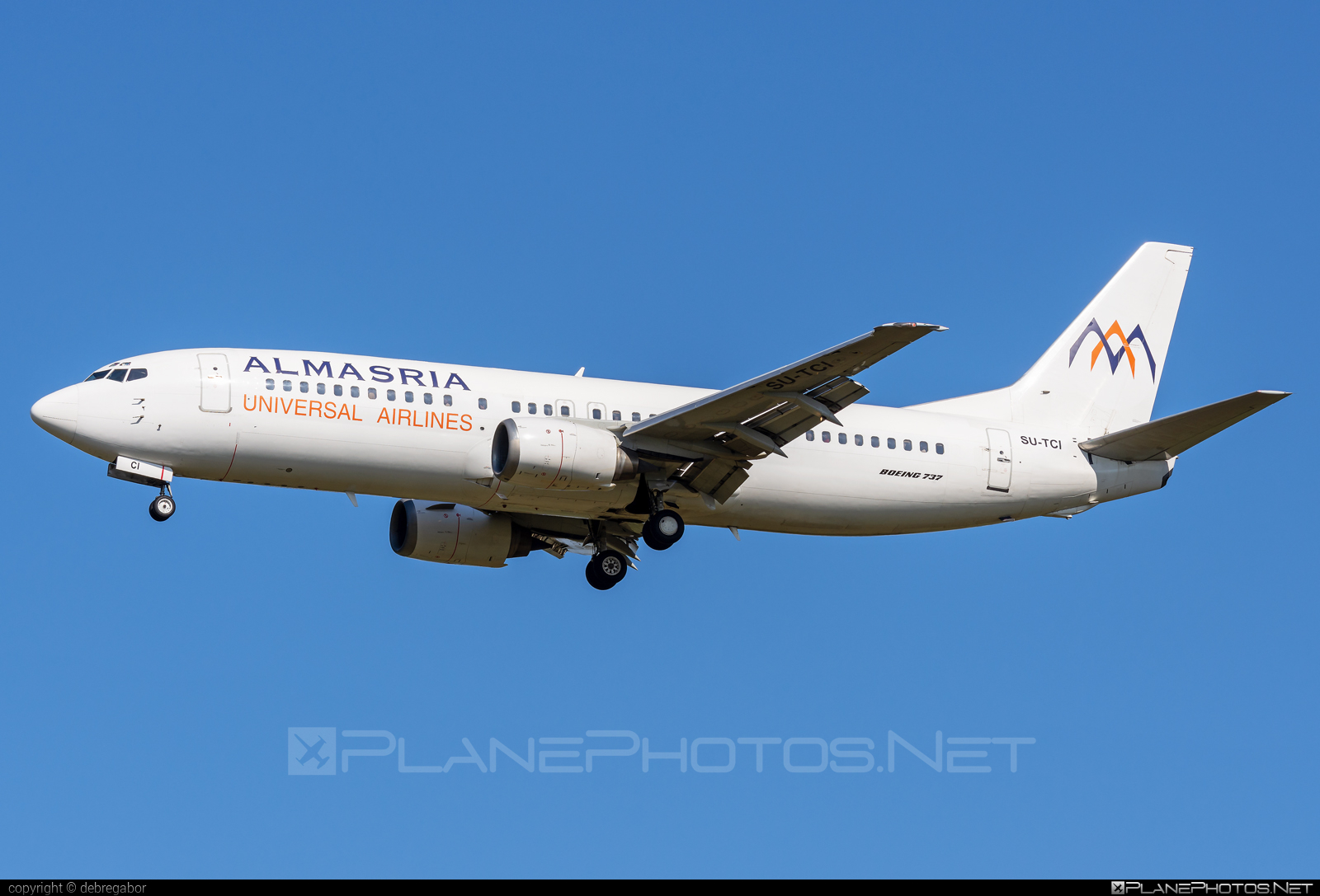 Boeing 737-400 - SU-TCI operated by AlMasria Universal Airlines #almasria #almasriaairlines #almasriauniversal #almasriauniversalairlines #b737 #boeing #boeing737