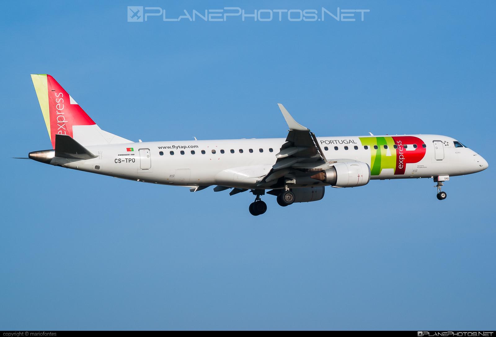 Embraer E190LR (ERJ-190-100LR) - CS-TPO operated by TAP Express #e190 #e190100 #e190100lr #e190lr #embraer #embraer190 #embraer190100lr #embraer190lr