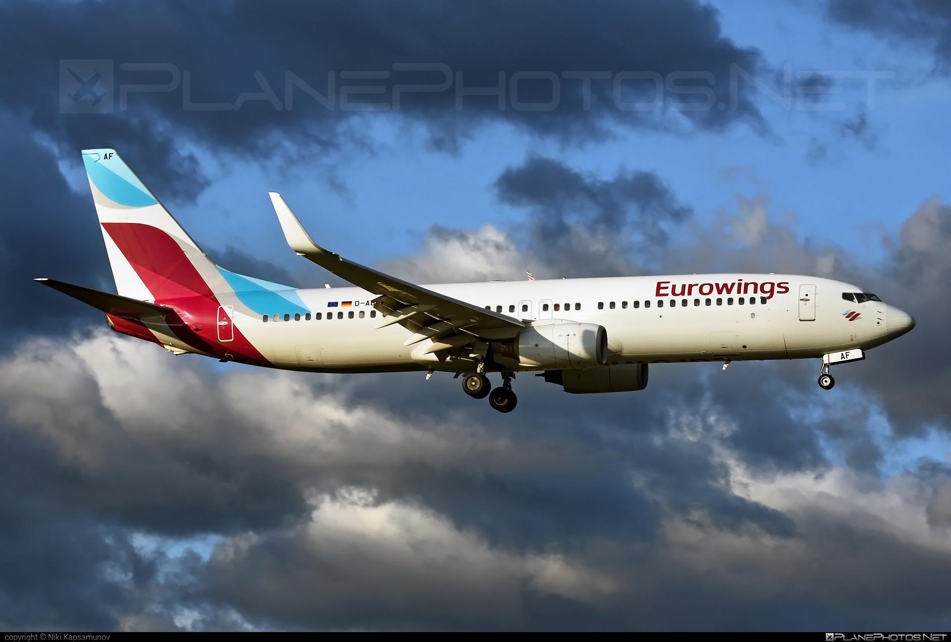 Boeing 737-800 - D-ABAF operated by Eurowings #b737 #b737nextgen #b737ng #boeing #boeing737 #eurowings