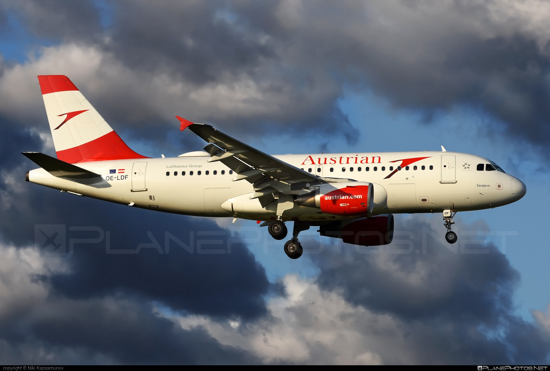 Airbus A319-112 - OE-LDF operated by Austrian Airlines #a319 #a320family #airbus #airbus319