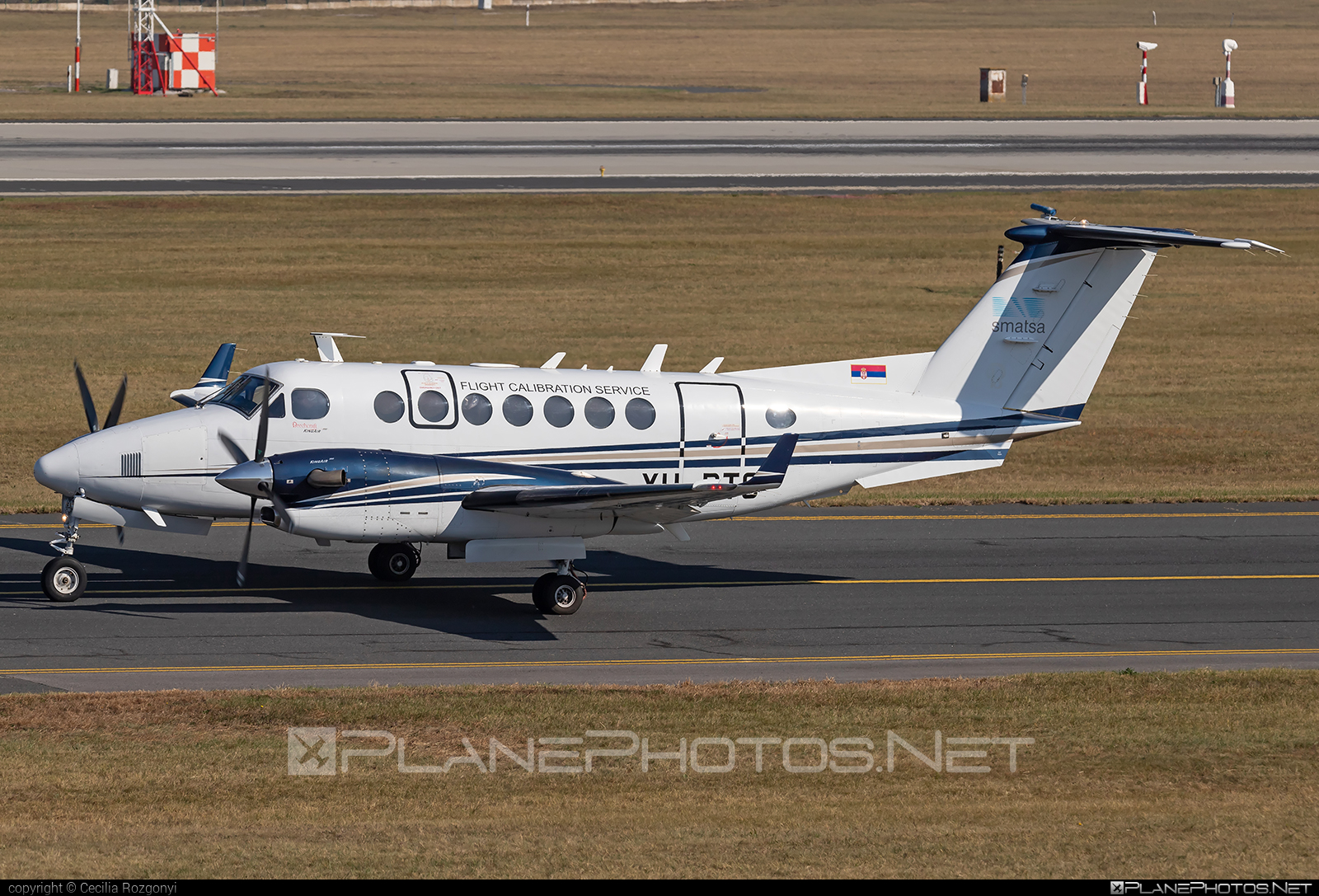 Beechcraft King Air 350 - YU-BTC operated by Serbia and Montenegro Air Traffic Services Agency (SMATSA) #beechb300 #beechcraft #beechcraftb300 #kingair #kingair350