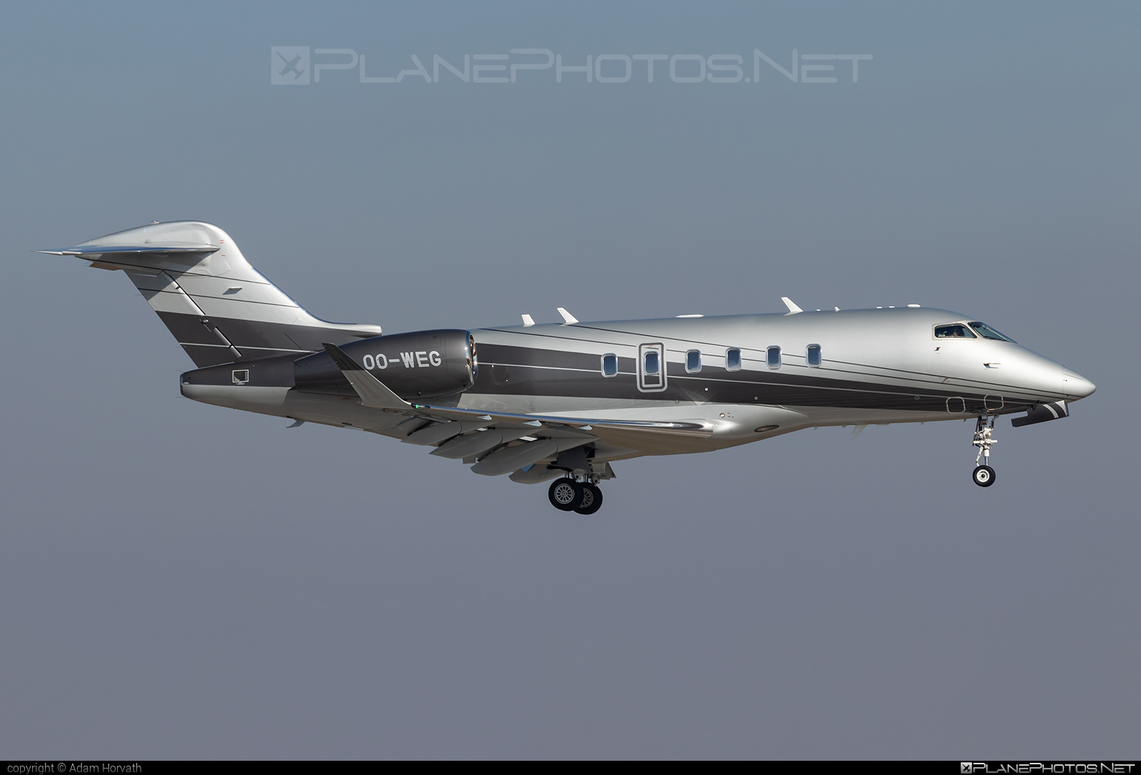 Bombardier Challenger 350 (BD-100-1A10) - OO-WEG operated by Abelag Aviation #bd1001a10 #bombardier #challenger350