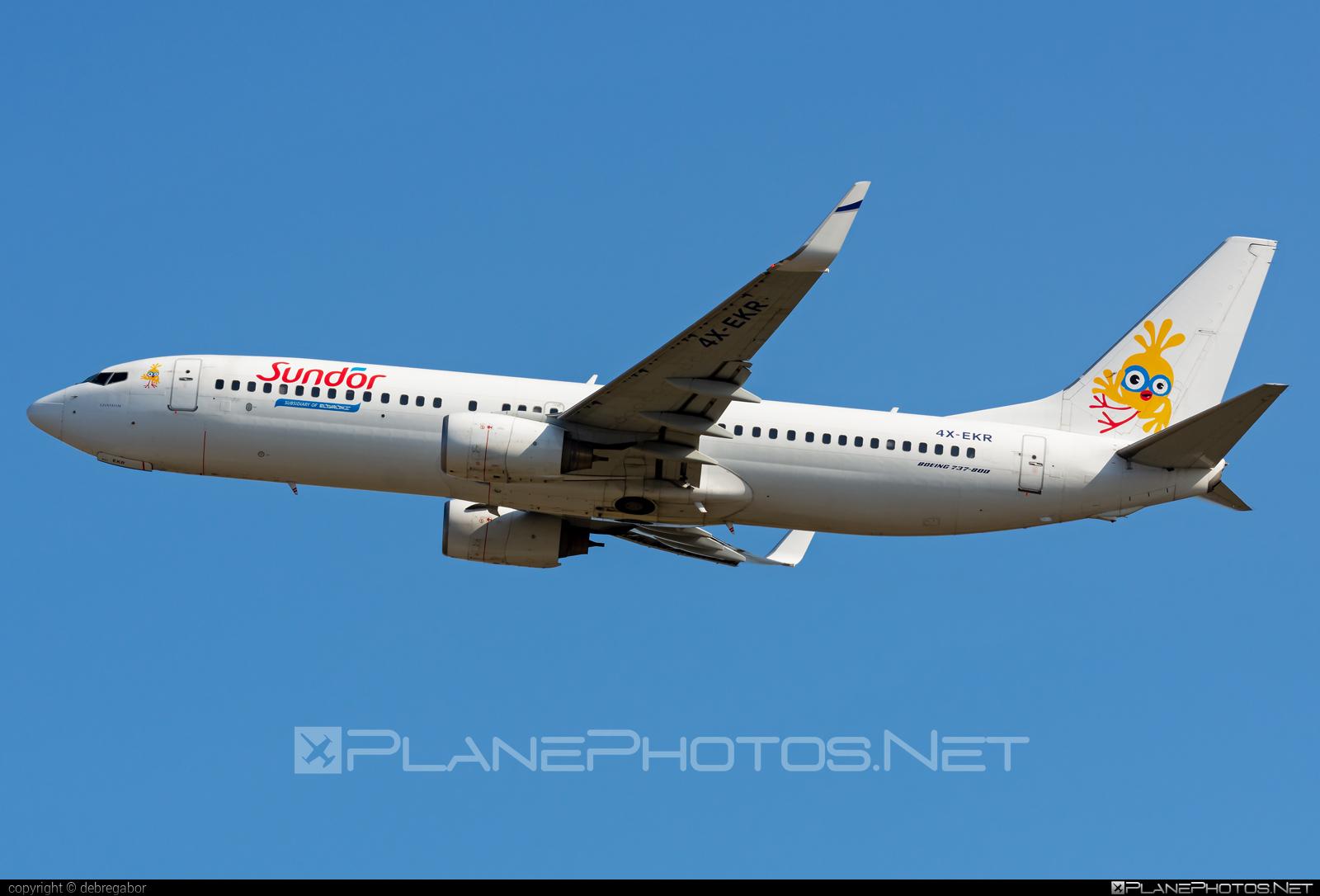 Boeing 737-800 - 4X-EKR operated by Sun d`Or International Airlines #b737 #b737nextgen #b737ng #boeing #boeing737