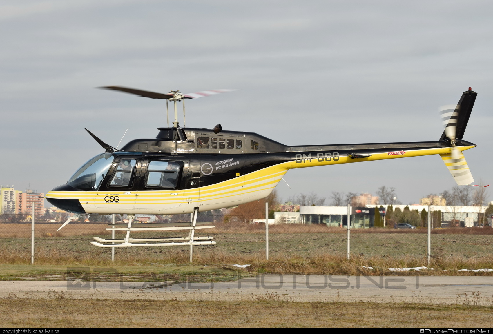 Bell 206B-3 JetRanger III - OM-GGG operated by EHC Service #bell #bellhelicopters