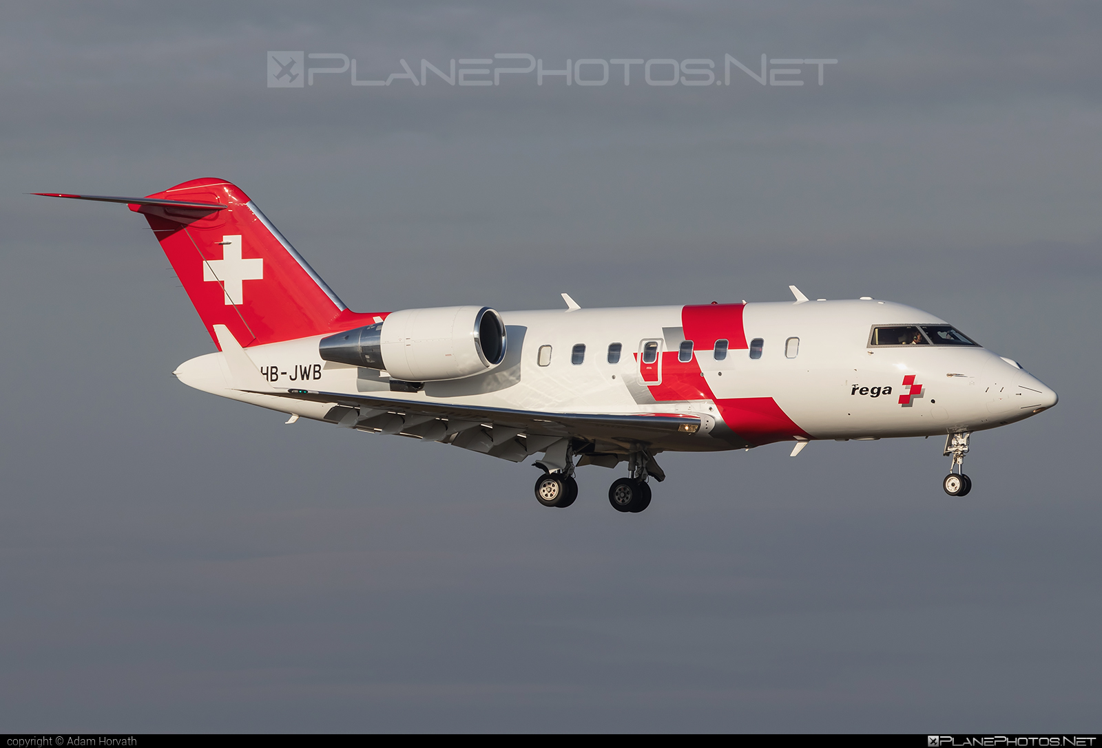 Bombardier Challenger 650 (CL-600-2B16) - HB-JWB operated by REGA - Swiss Air Ambulance #bombardier #challenger650 #cl6002b16