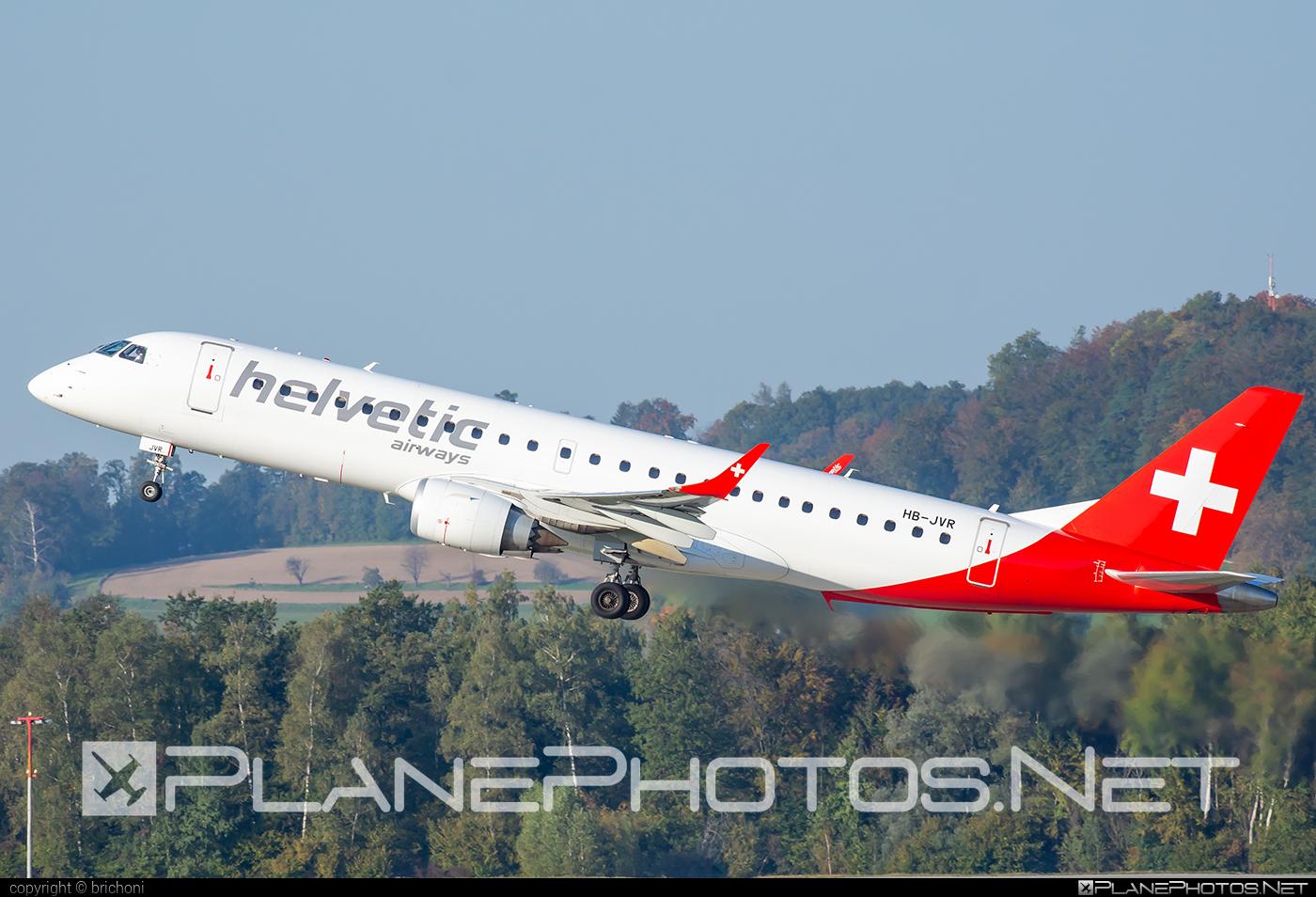 Embraer E190LR (ERJ-190-100LR) - HB-JVR operated by Helvetic Airways #e190 #e190100 #e190100lr #e190lr #embraer #embraer190 #embraer190100lr #embraer190lr