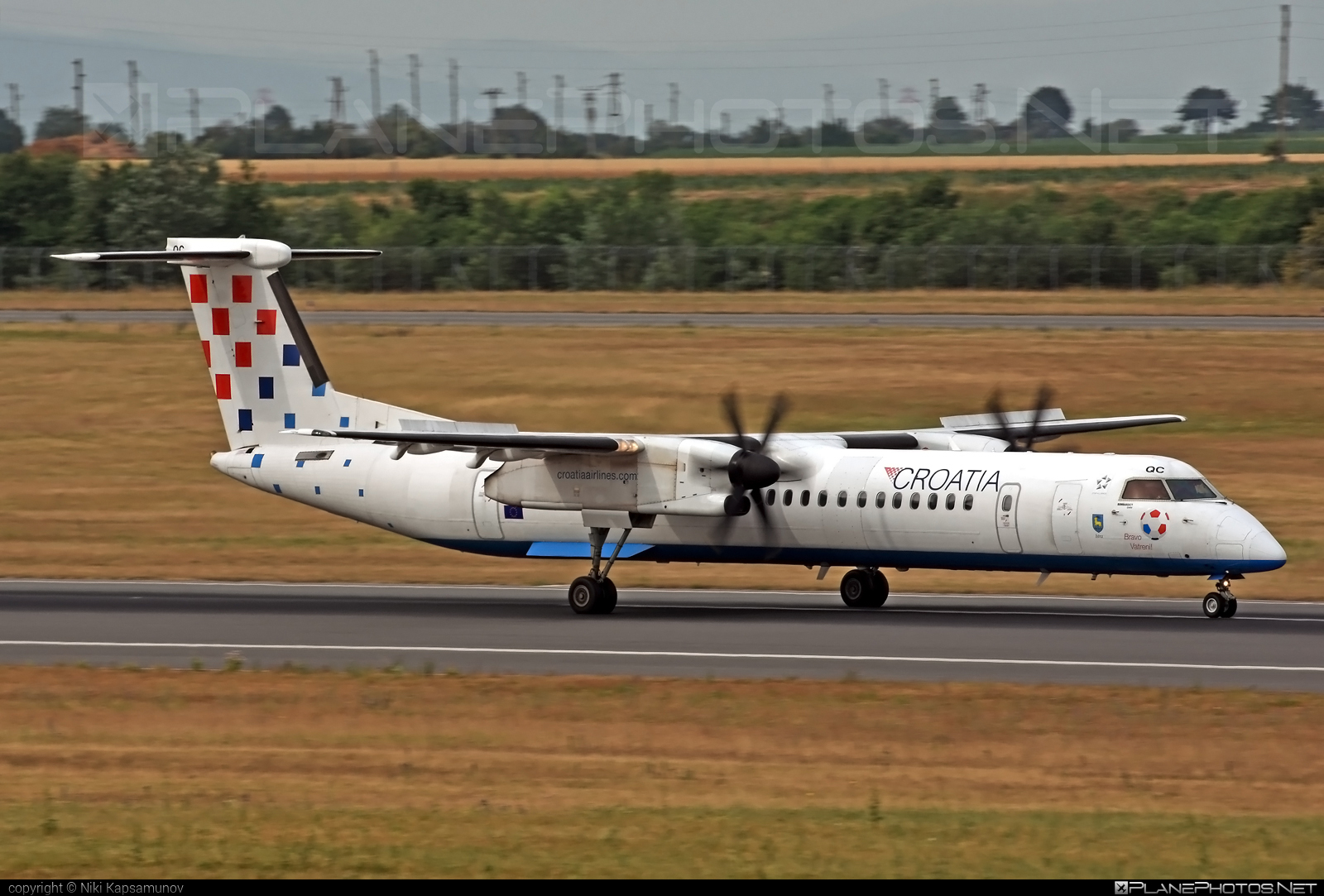 Bombardier DHC-8-Q402 Dash 8 - 9A-CQC operated by Croatia Airlines #bombardier