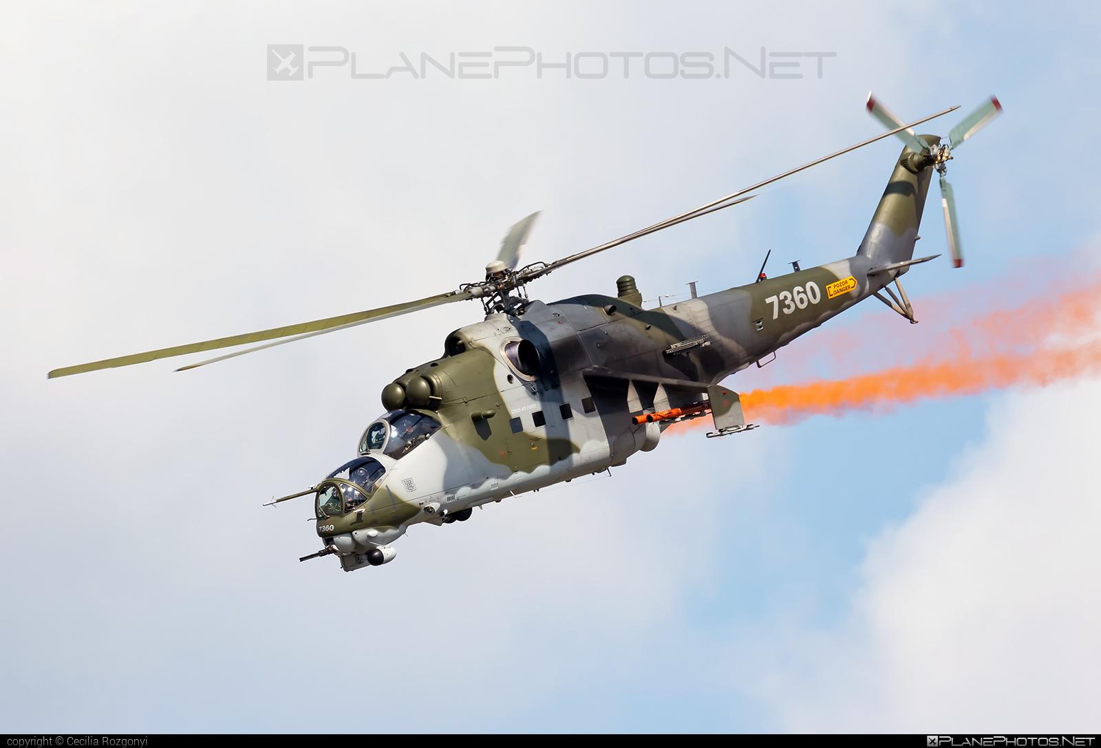Mil Mi-35 - 7360 operated by Vzdušné síly AČR (Czech Air Force) #czechairforce #mi35 #mil #milhelicopters #vzdusnesilyacr
