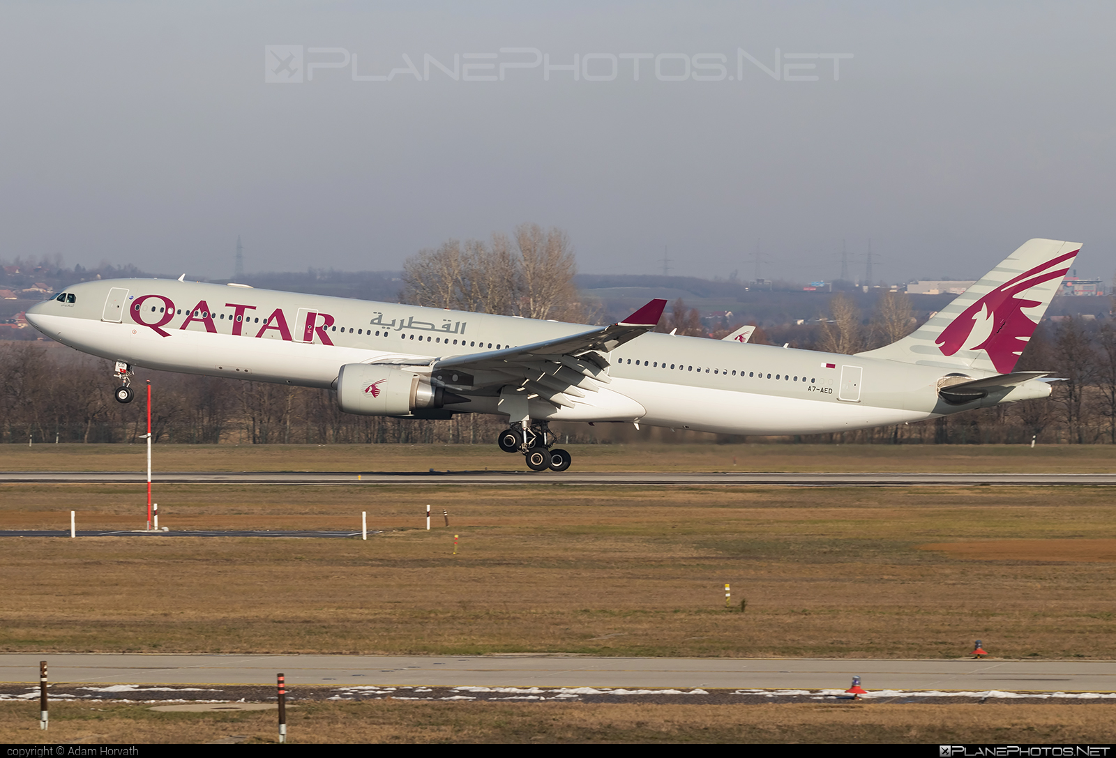Airbus A330-302 - A7-AED operated by Qatar Airways #a330 #a330family #airbus #airbus330 #qatarairways