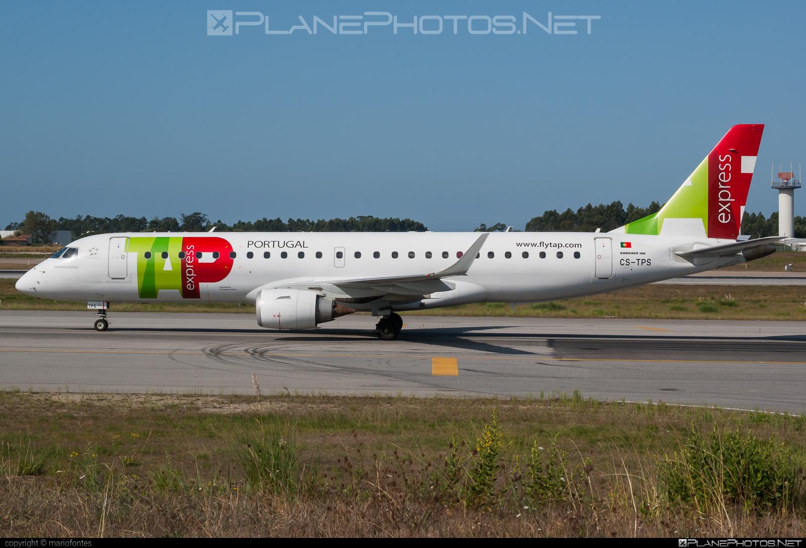 Embraer E190LR (ERJ-190-100LR) - CS-TPS operated by TAP Express #e190 #e190100 #e190100lr #e190lr #embraer #embraer190 #embraer190100lr #embraer190lr