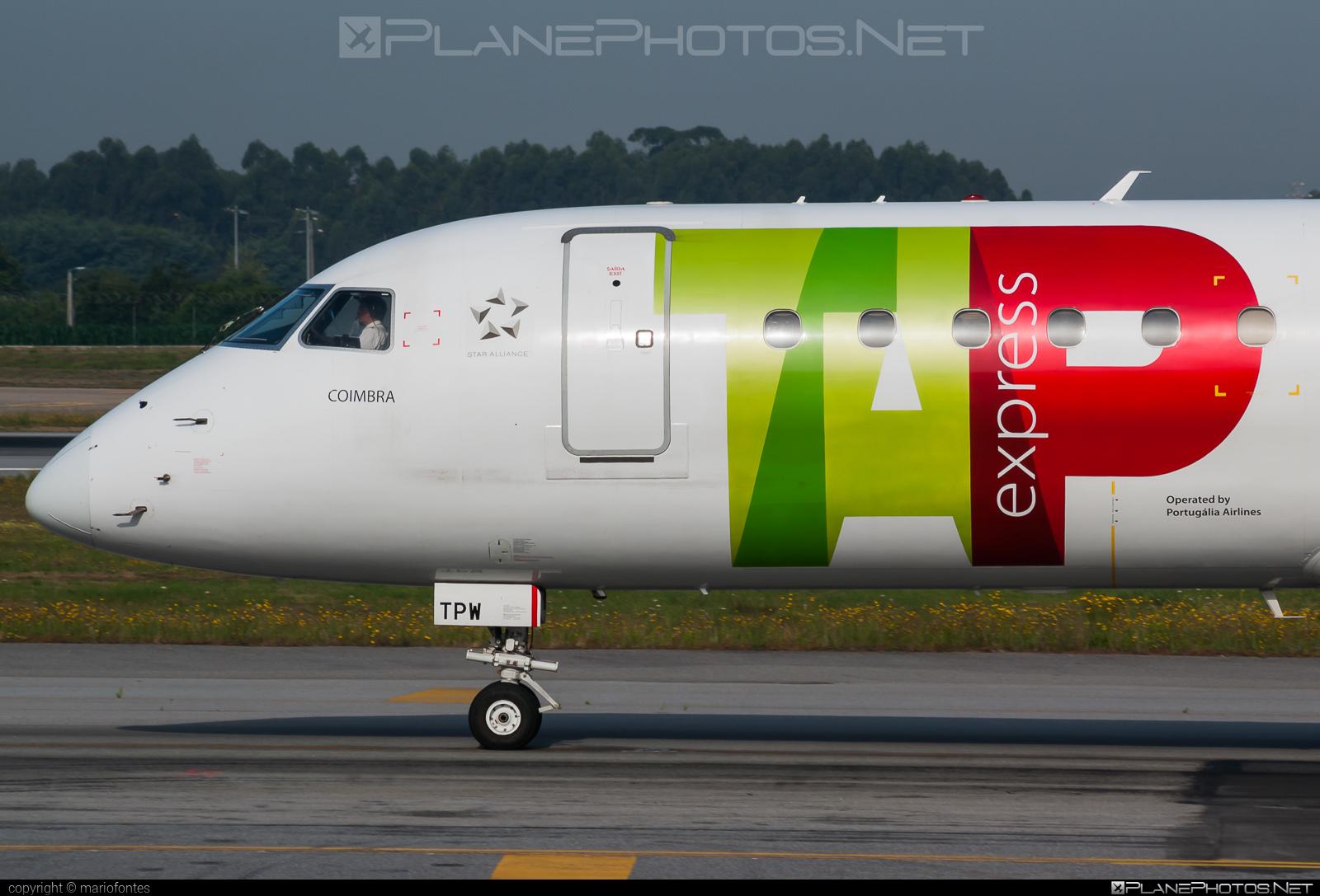 Embraer E190LR (ERJ-190-100LR) - CS-TPW operated by TAP Express #e190 #e190100 #e190100lr #e190lr #embraer #embraer190 #embraer190100lr #embraer190lr