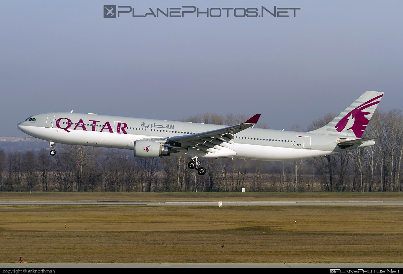 Airbus A330-302 - A7-AEC operated by Qatar Airways #a330 #a330family #airbus #airbus330 #qatarairways
