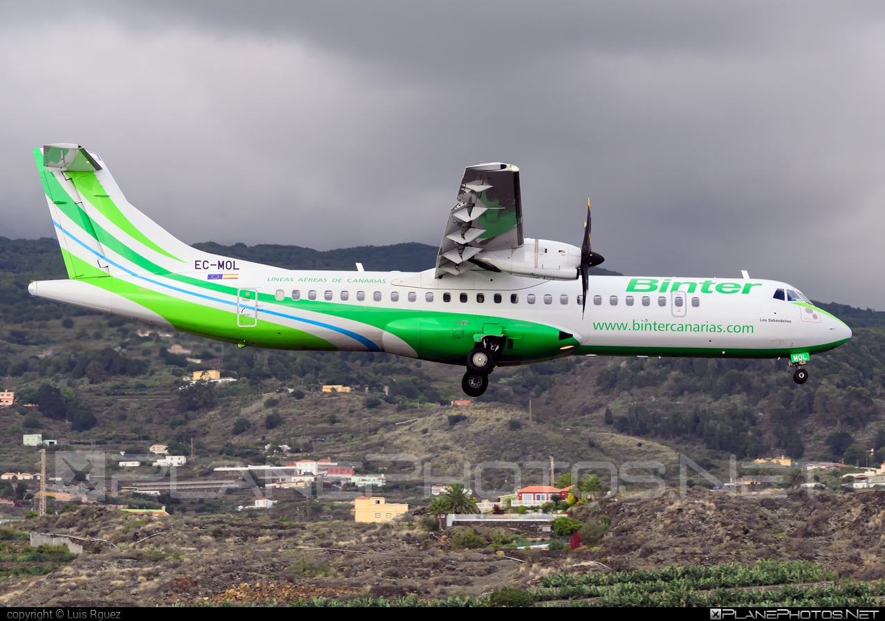 ATR 72-600 - EC-MOL operated by Binter Canarias #atr