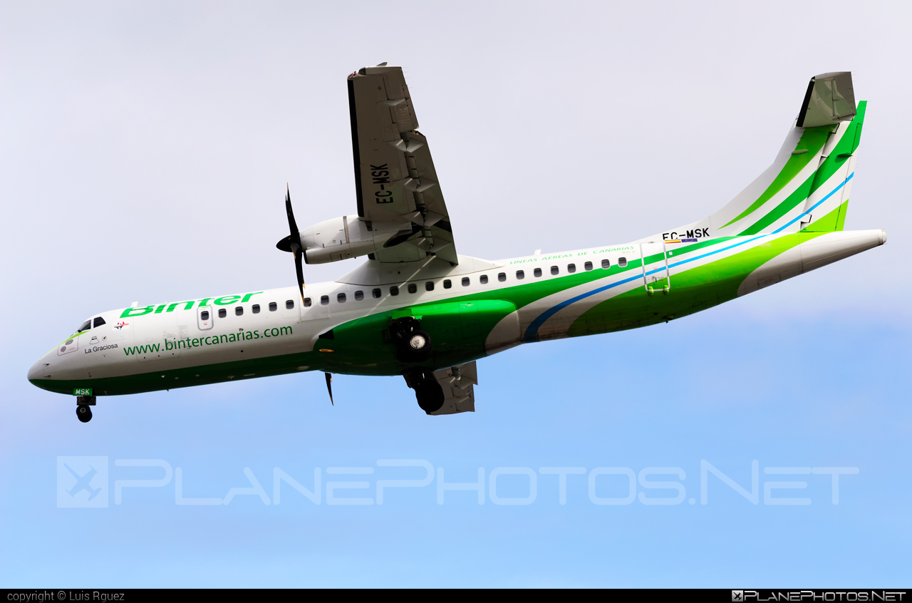 ATR 72-600 - EC-MSK operated by Binter Canarias #atr