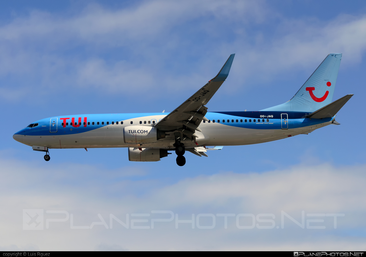 Boeing 737-800 - OO-JAQ operated by TUI Airlines Belgium #b737 #b737nextgen #b737ng #boeing #boeing737 #tui #tuiairlines #tuiairlinesbelgium