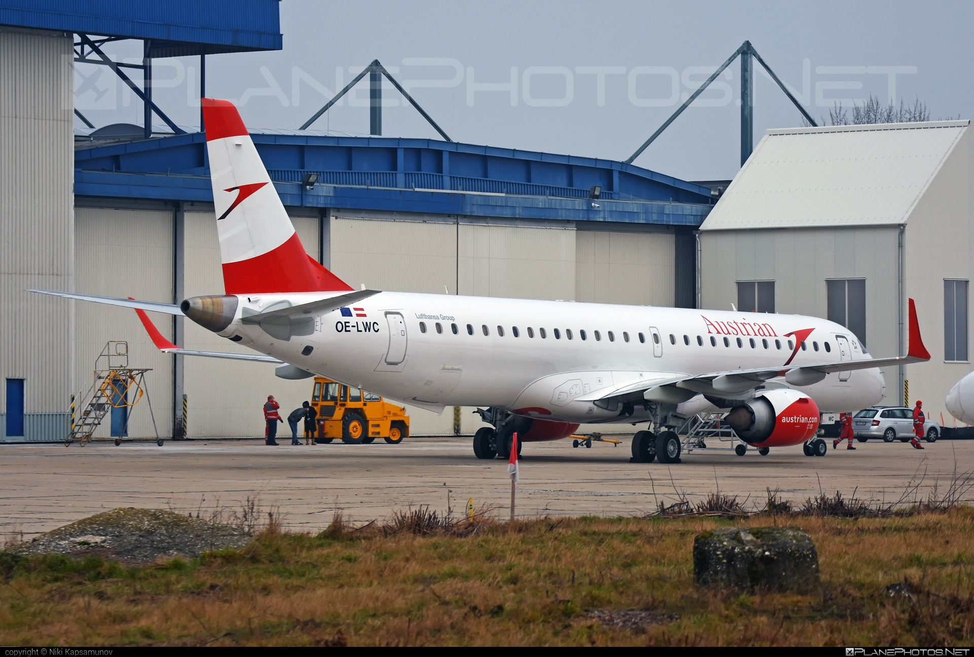 Embraer E195LR (ERJ-190-200LR) - OE-LWC operated by Austrian Airlines #e190 #e190200 #e190200lr #e195lr #embraer #embraer190200lr #embraer195 #embraer195lr