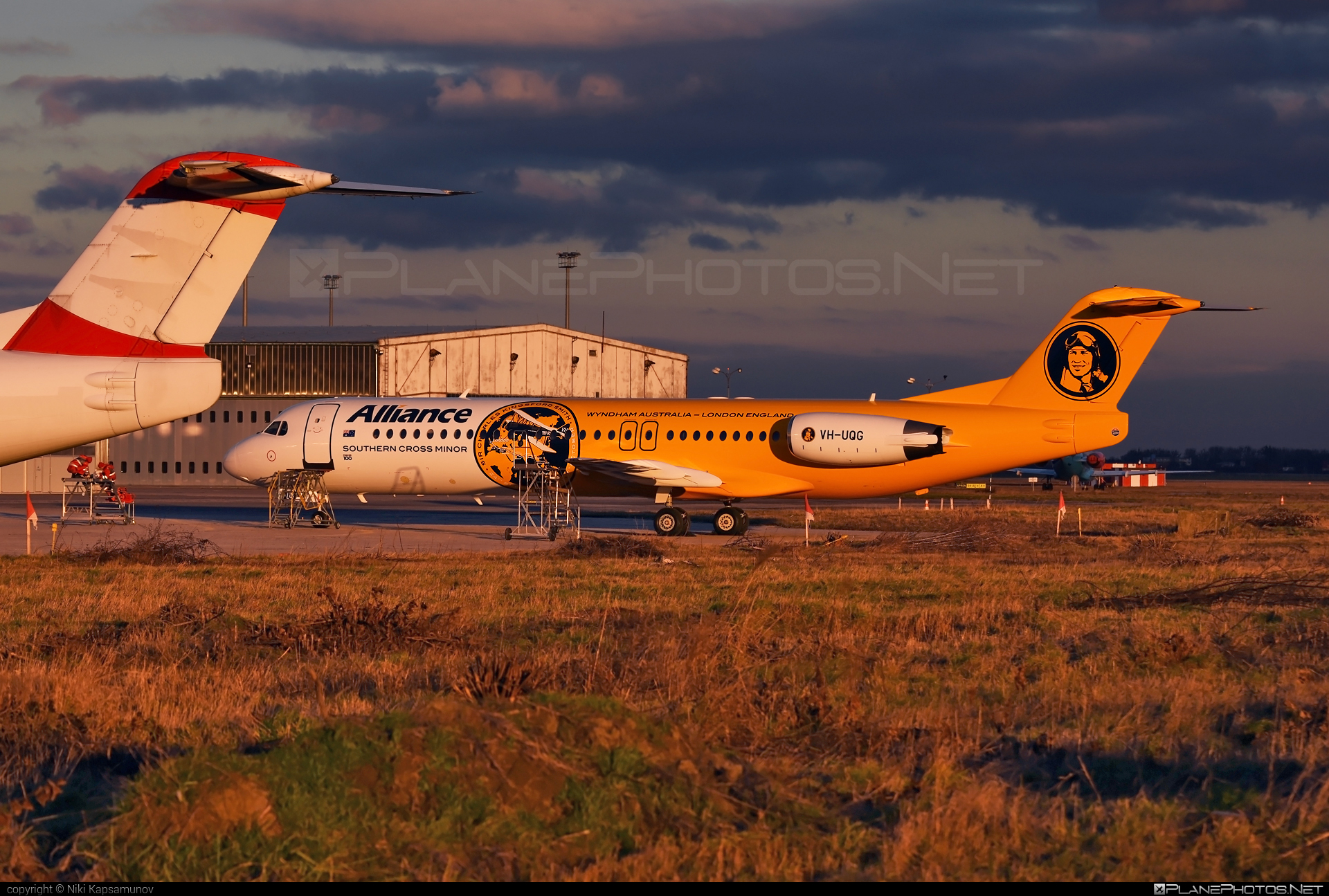 Fokker 100 - VH-UQG operated by Alliance Airlines #fokker