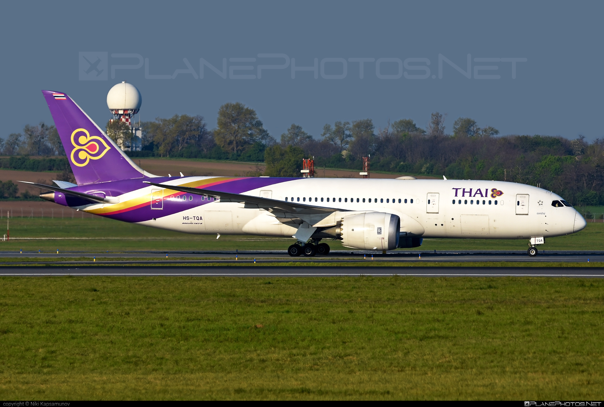 Boeing 787-8 Dreamliner - HS-TQA operated by Thai Airways #b787 #boeing #boeing787 #dreamliner #thaiairways