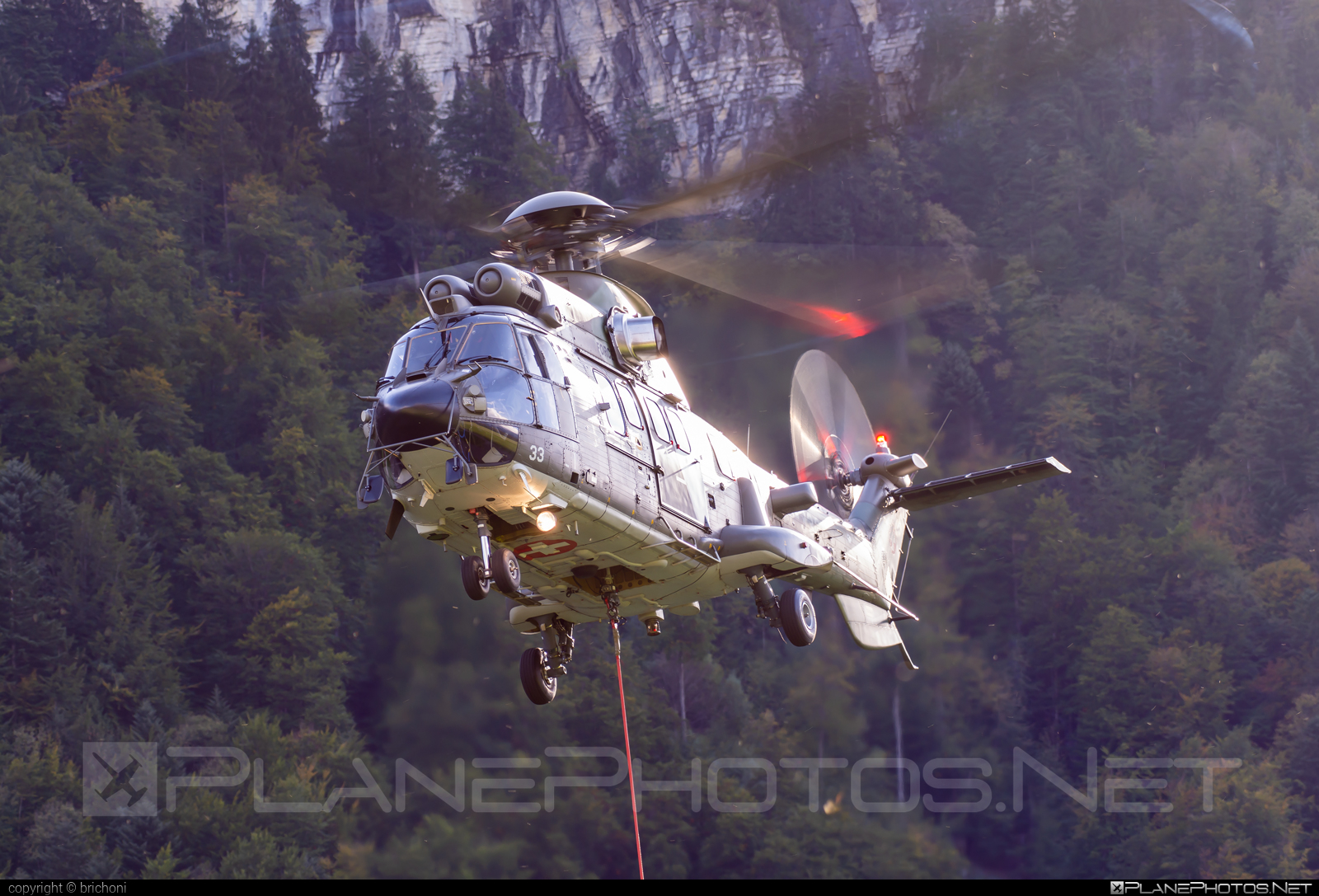 Eurocopter AS532 UL Cougar - T-333 operated by Schweizer Luftwaffe (Swiss Air Force) #eurocopter
