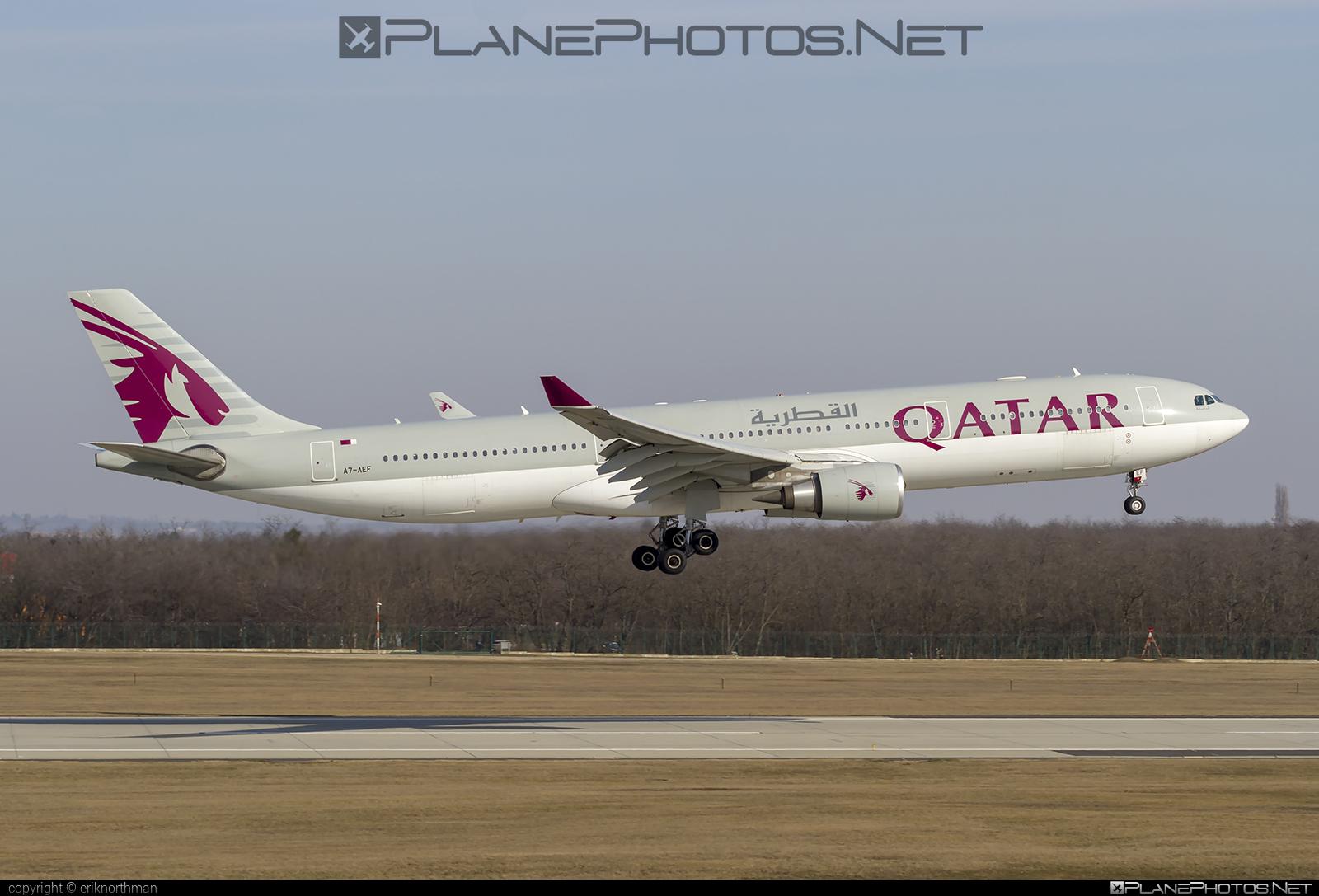 Airbus A330-302 - A7-AEF operated by Qatar Airways #a330 #a330family #airbus #airbus330 #qatarairways