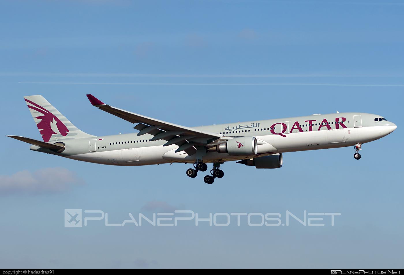 Airbus A330-303 - A7-AEA operated by Qatar Airways #a330 #a330family #airbus #airbus330 #qatarairways