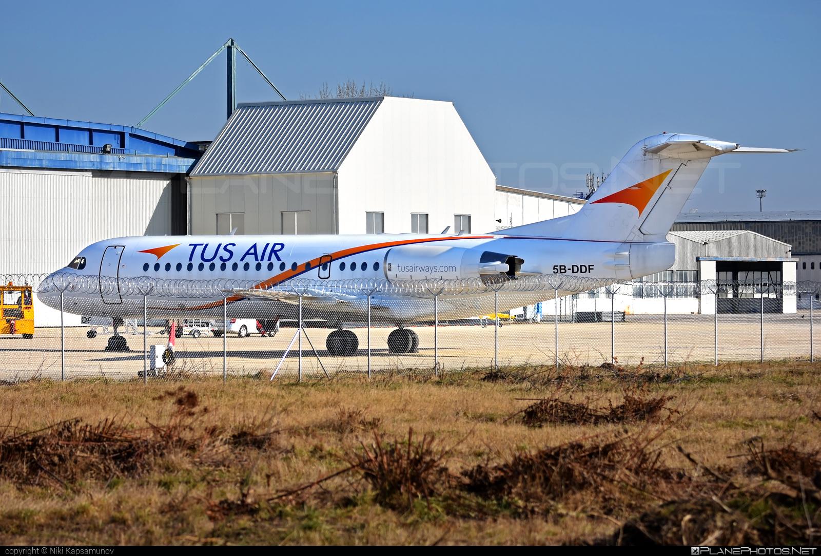 Fokker 70 - 5B-DDF operated by Tus Airways #fokker #tusair #tusairways