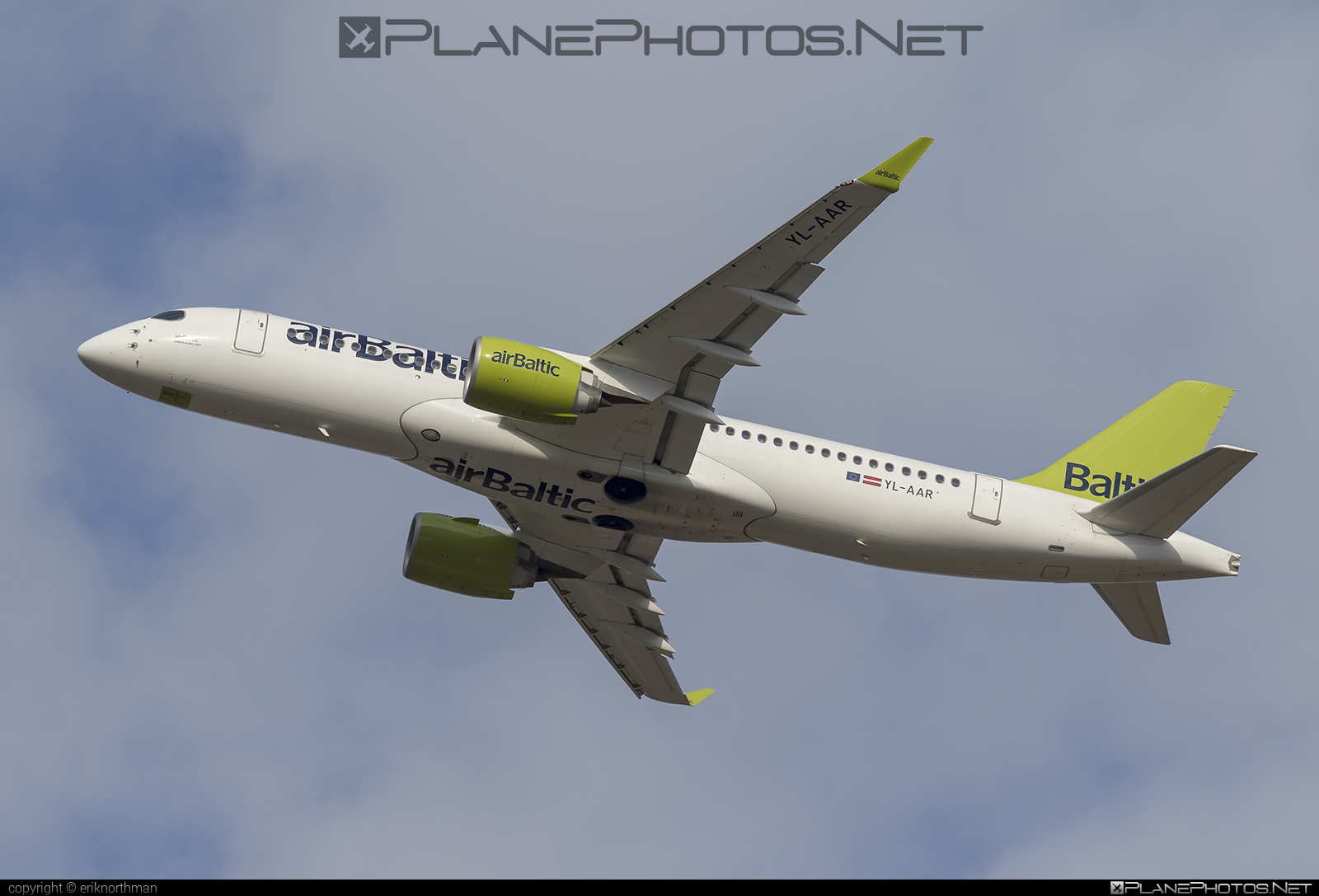 Airbus A220-300 - YL-AAR operated by Air Baltic #a220300 #a220family #airbaltic #airbus #cs300 #cseries #cseries300