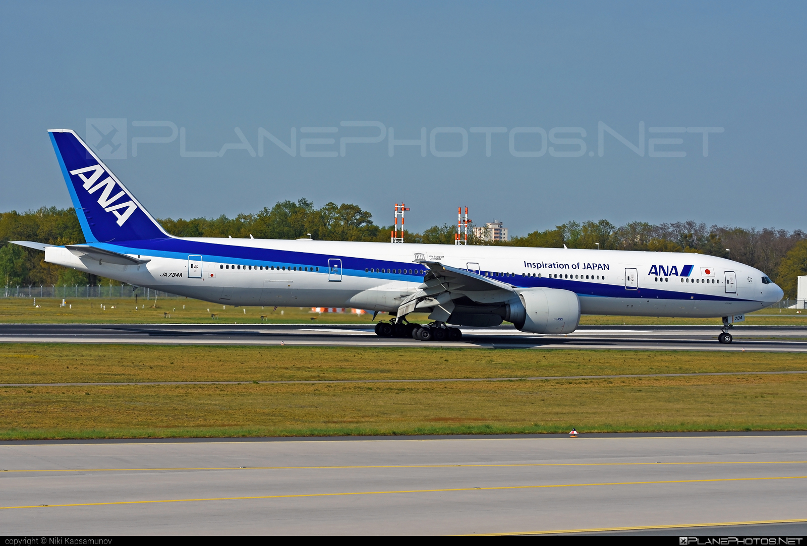 Boeing 777-300ER - JA734A operated by All Nippon Airways (ANA) #b777 #b777er #boeing #boeing777 #tripleseven