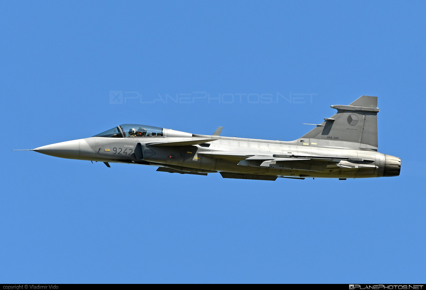 Saab JAS 39C Gripen - 9242 operated by Vzdušné síly AČR (Czech Air Force) #czechairforce #gripen #jas39 #jas39c #jas39gripen #saab #vzdusnesilyacr