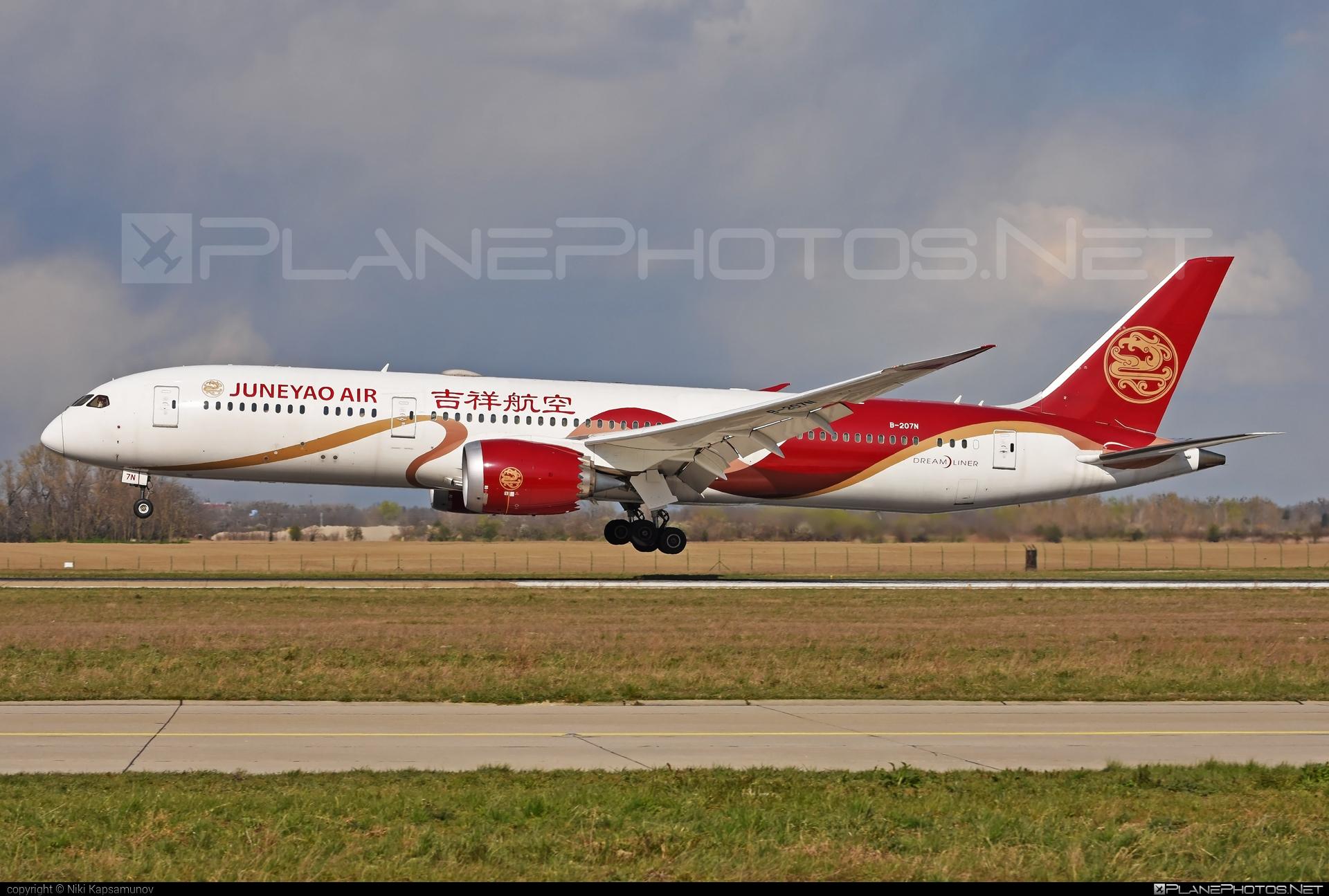 Boeing 787-9 Dreamliner - B-207N operated by Juneyao Airlines #b787 #boeing #boeing787 #dreamliner #juneyaoairlines