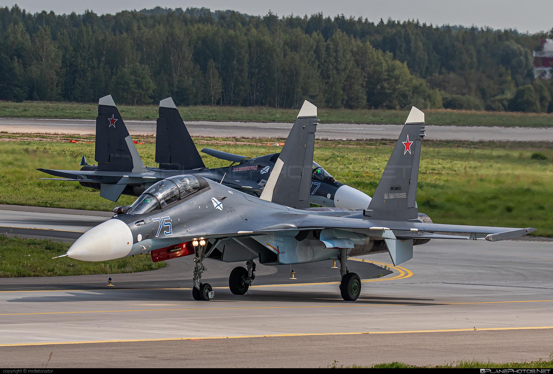 Sukhoi Su-30SM - RF-34013 operated by Voyenno-morskoy flot Rossii (Russian Navy) #maks2019 #su30 #su30sm #sukhoi #sukhoi30 #sukhoisu30sm