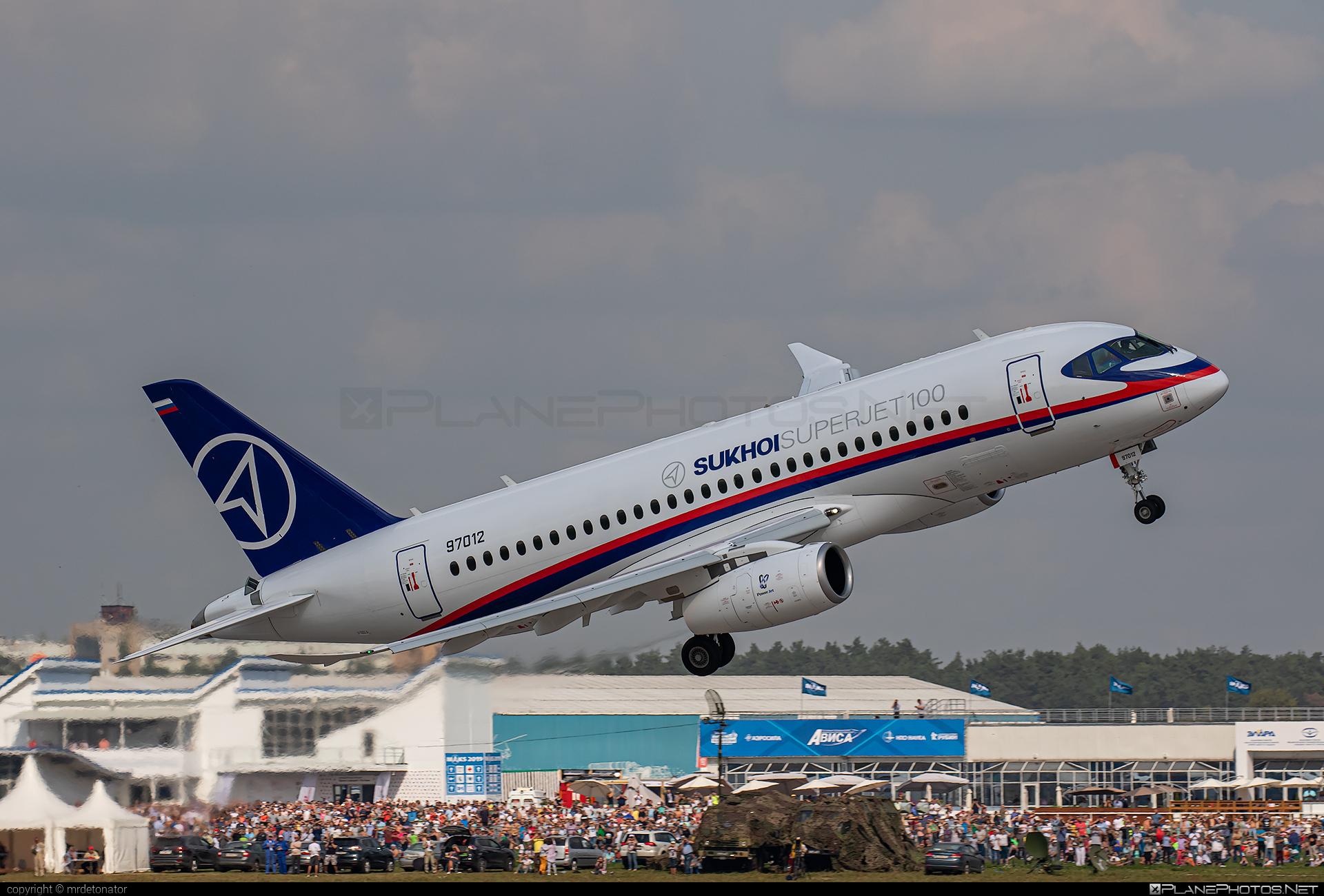 Sukhoi SSJ 100-95B Superjet - 97012 operated by Sukhoi Design Bureau #ssj100 #ssj10095b #sukhoi #sukhoisuperjet #superjet