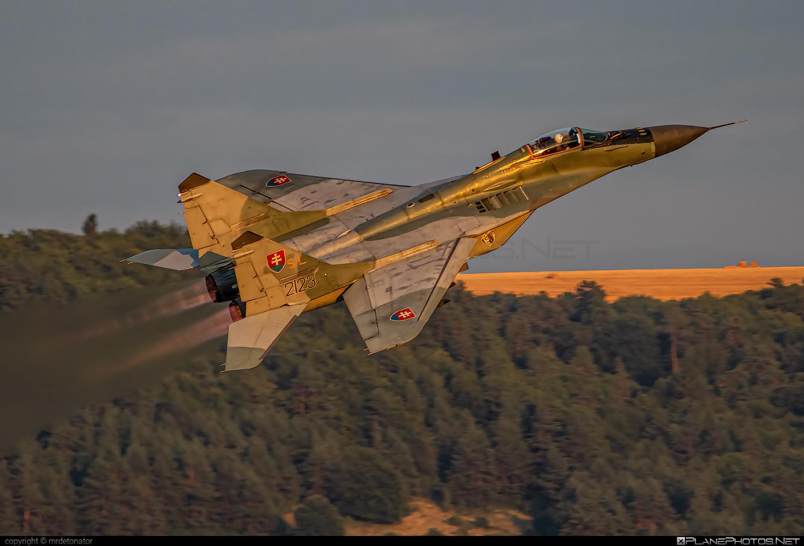 Mikoyan-Gurevich MiG-29AS - 2123 operated by Vzdušné sily OS SR (Slovak Air Force) #mig #mig29 #mig29as #mikoyangurevich #slovakairforce #vzdusnesilyossr