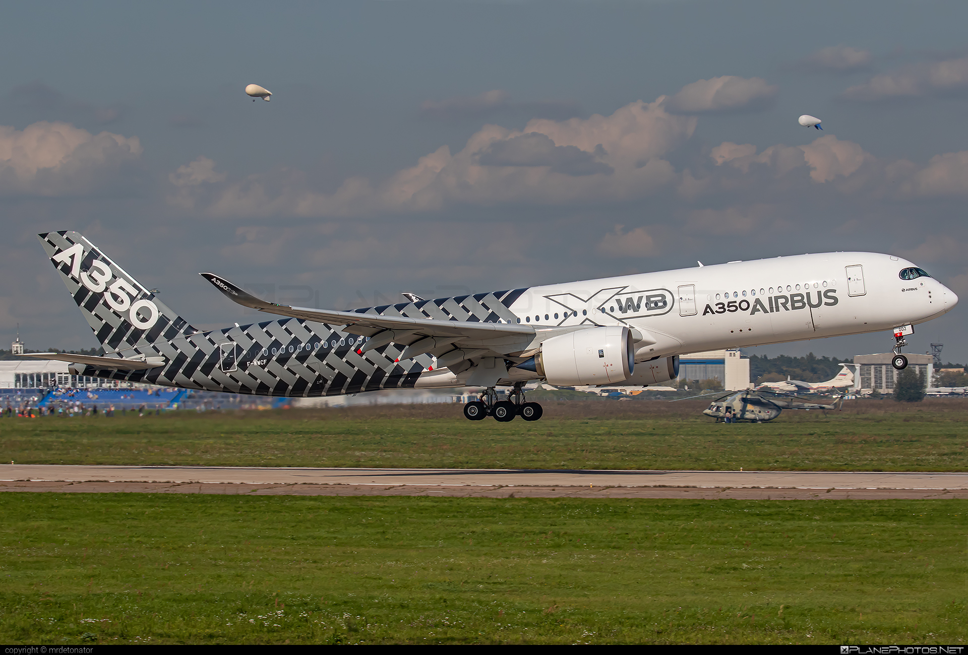 Airbus A350-941 - F-WWCF operated by Airbus Industrie #a350 #a350family #airbus #airbus350 #maks2019 #xwb