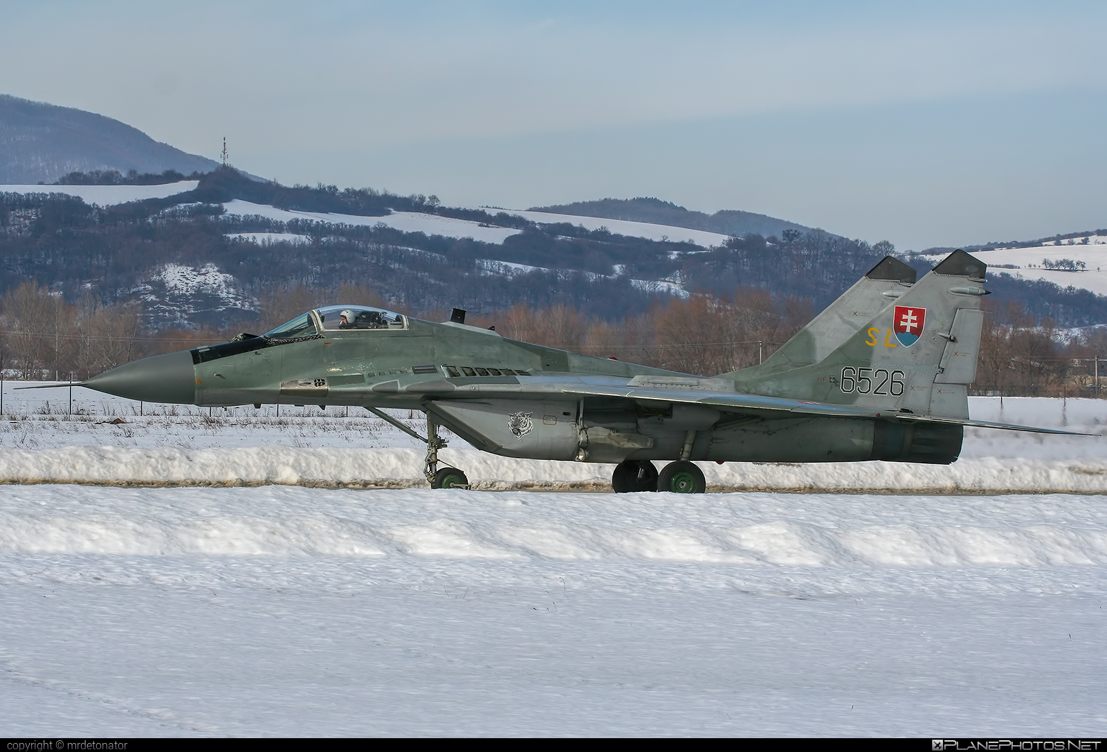 Mikoyan-Gurevich MiG-29AS - 6526 operated by Vzdušné sily OS SR (Slovak Air Force) #mig #mig29 #mig29as #mikoyangurevich #slovakairforce #vzdusnesilyossr