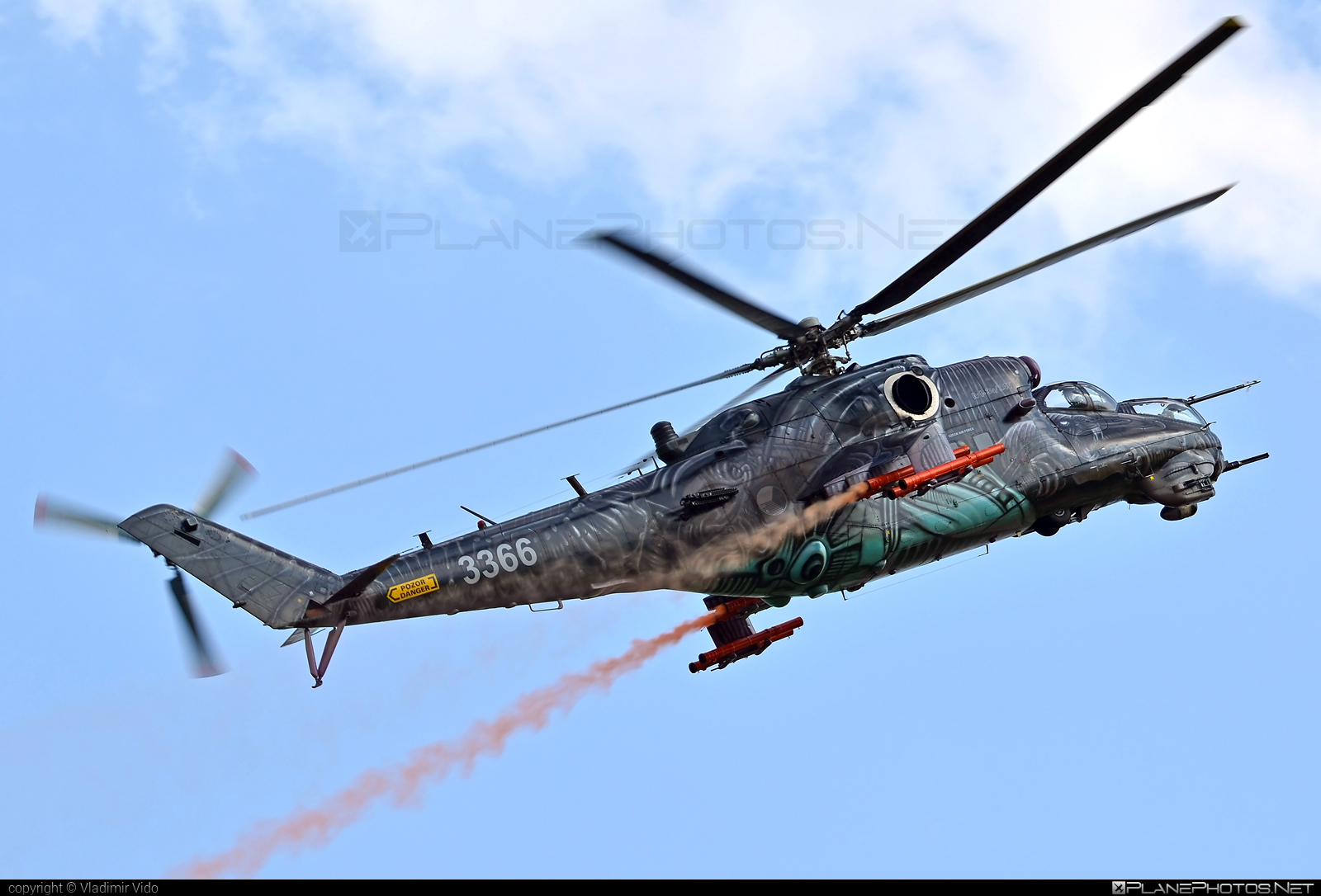 Mil Mi-35 - 3366 operated by Vzdušné síly AČR (Czech Air Force) #czechairforce #mi35 #mil #milhelicopters #siad2017 #vzdusnesilyacr