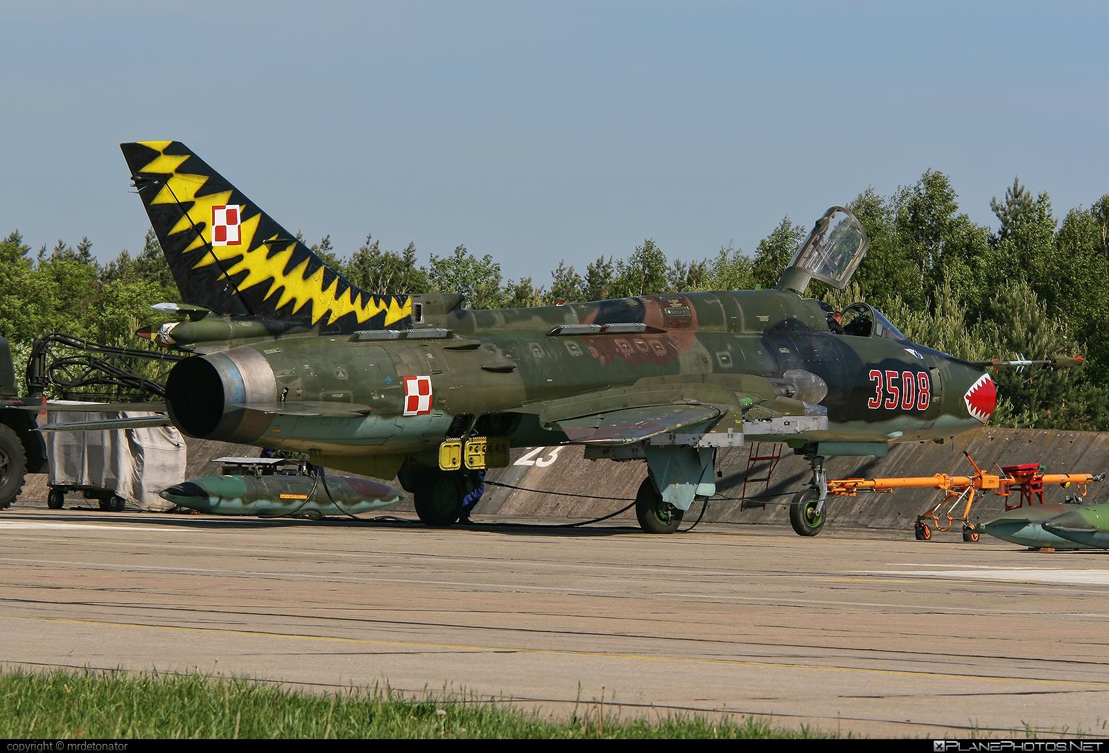 Sukhoi Su-22M4 - 3508 operated by Siły Powietrzne Rzeczypospolitej Polskiej (Polish Air Force) #polishairforce #silypowietrzne #sukhoi