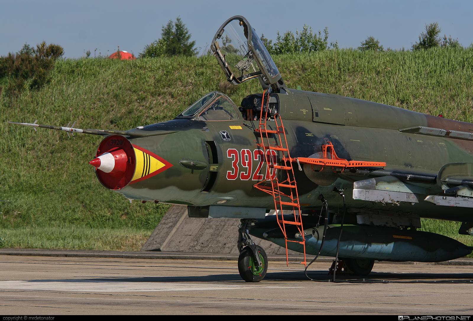 Sukhoi Su-22M4 - 3920 operated by Siły Powietrzne Rzeczypospolitej Polskiej (Polish Air Force) #polishairforce #silypowietrzne #sukhoi