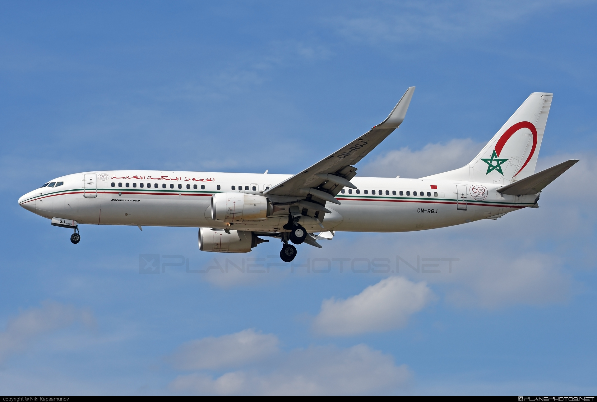 Boeing 737-800 - CN-RGJ operated by Royal Air Maroc (RAM) #b737 #b737nextgen #b737ng #boeing #boeing737 #royalairmaroc